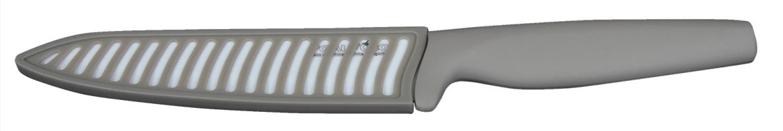 Нож Pomi d'Oro K1554B Organza Bianco, керамический, с чехлом, лезвие 15 см, толщина 2 мм, цвет: белый77.858@21279 / K1554B Organza BiancoНож керамический Pomi d'Oro K1554B Organza Bianco, изготовлен из белой керамики Kerano, длина лезвия - 15 см, толщина 2 мм. Бежевая обрезиненная ручка. Бежевый чехол. Kerano - униальный керамический нано-материал производства Kerano Produzione SPA, который не содержит вредные примеси, в т.ч. перфоктановую кислоту (PTFE) и примеси, используемые для легированной стали. Химически нейтрален, не вступает в химическую реакцию с пищей во время готовки.