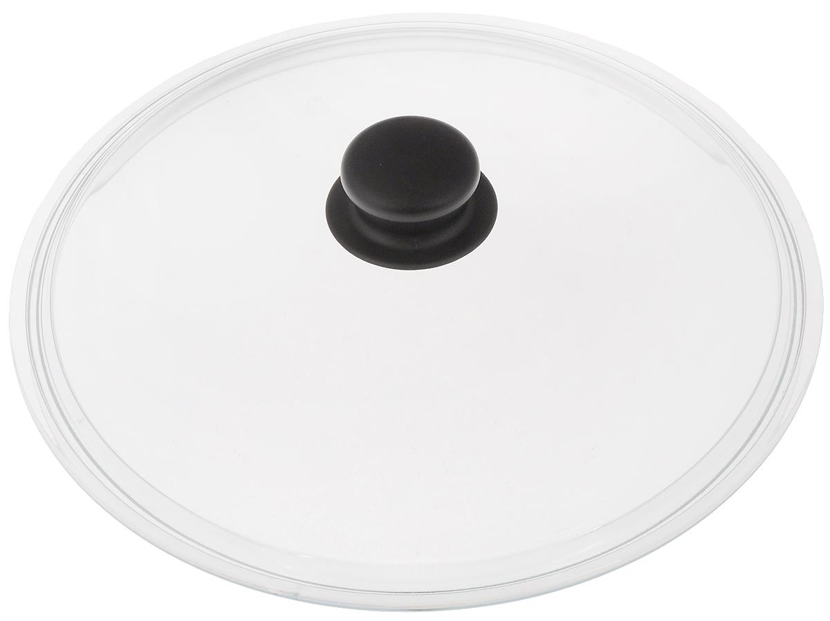Крышка стеклянная Катюша. Диаметр 28 смфн280Крышка Катюша изготовлена из жаропрочного стекла. Ручка, выполненная из термостойкого пластика, защищает ваши руки от высоких температур. Крышка удобна в использовании и позволяет контролировать процесс приготовления пищи. Можно мыть в посудомоечной машине.