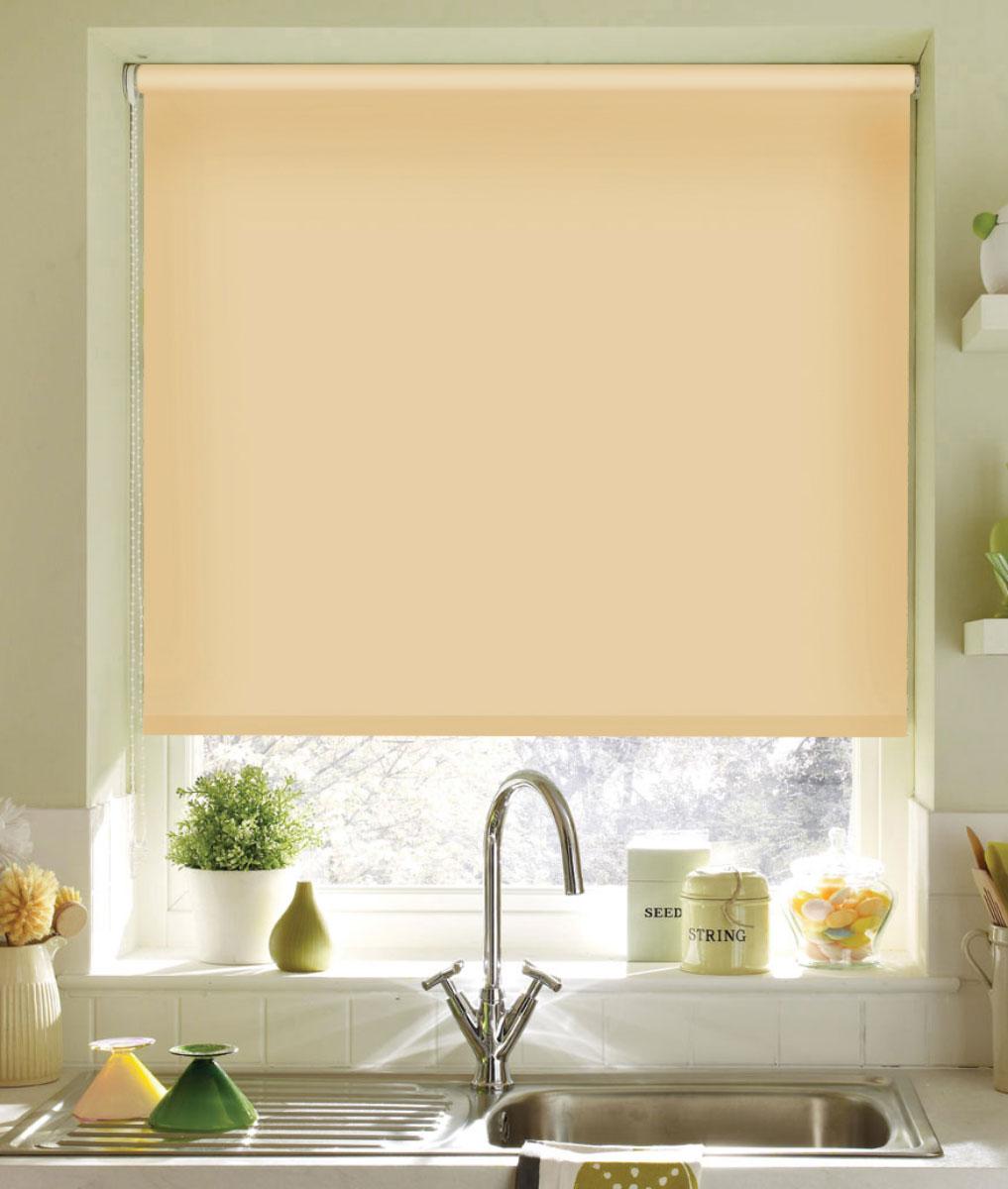 Миниролло KauffOrt 73х170 см, цвет: светлый абрикос3073112Рулонная штора Миниролло выполнена из высокопрочной ткани светло-абрикосового цвета, которая сохраняет свой размер даже при намокании. Ткань не выцветает и обладает отличной цветоустойчивостью. Миниролло - это подвид рулонных штор, который закрывает не весь оконный проем, а непосредственно само стекло. Такие шторы крепятся на раму без сверления при помощи зажимов или клейкой двухсторонней ленты. Окно остаётся на гарантии, благодаря монтажу без сверления. Такая штора станет прекрасным элементом декора окна и гармонично впишется в интерьер любого помещения.
