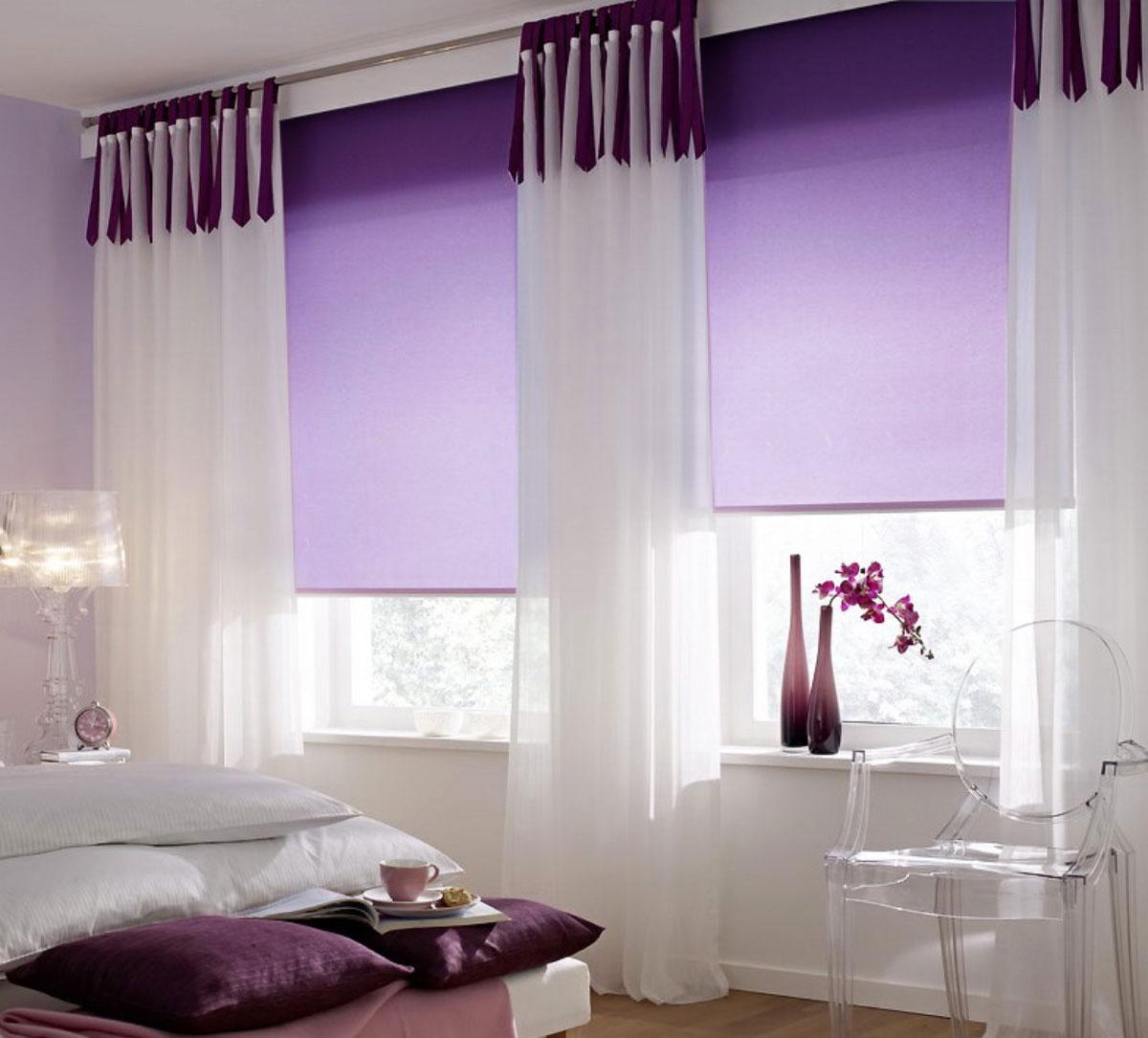 Штора рулонная Миниролло, 43х170см, тканевые, цвет: фиолетовый3043007Рулонная штора Миниролло выполнена из высокопрочной ткани, которая сохраняет свой размер даже при намокании. Ткань не выцветает и обладает отличной цветоустойчивостью. Миниролло - это подвид рулонных штор, который закрывает не весь оконный проем, а непосредственно само стекло. Такие шторы крепятся на раму без сверления при помощи зажимов или клейкой двухсторонней ленты. Окно остается на гарантии, благодаря монтажу без сверления. Такая штора станет прекрасным элементом декора окна и гармонично впишется в интерьер любого помещения.