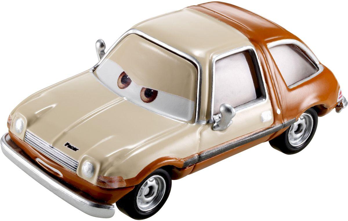 Cars Машинка Таббс ПейсерW1938_DLY99Таббс отрицательный персонаж мультфильма Тачки 2. Кремово-коричневый автомобиль марки AMC Pacer. Машинка Cars Таббс Пасер привлечет внимание вашего малыша и не позволит ему скучать, ведь так интересно и захватывающе покатать машинку или устроить гонку с другом. Выполнено изделие из прочного материала. Благодаря небольшому размеру ребенок сможет взять машинку с собой на прогулку, в поездку или в гости. Порадуйте своего малыша таким замечательным подарком!