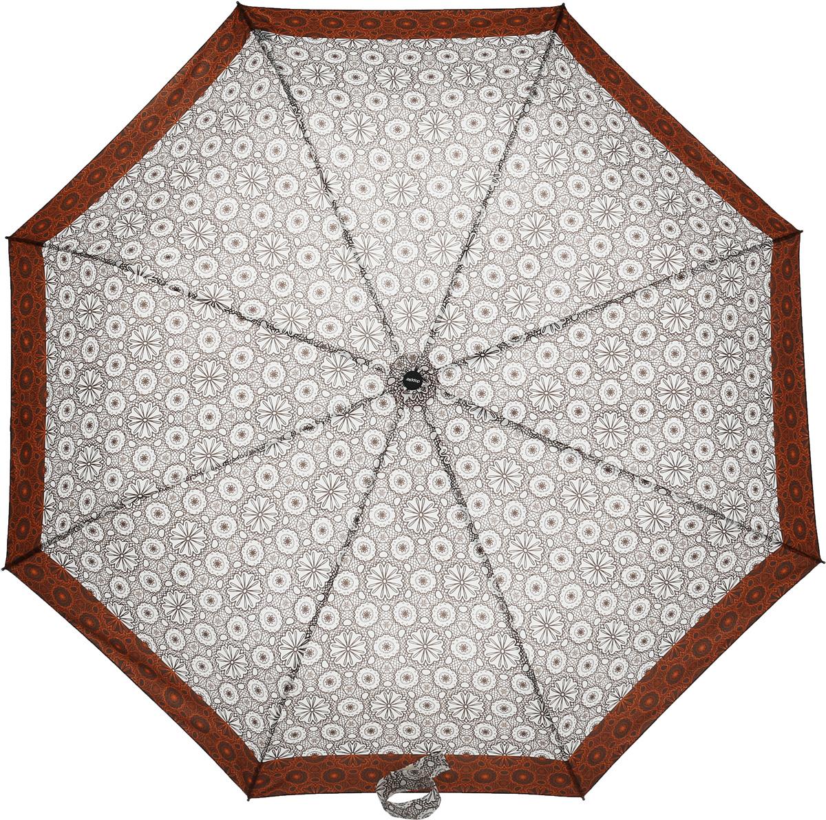Doppler Зонт 744146521 Style, 3 сложения, система антиветер, лакированная ручка744146521 orange flowersЗонт Doppler, всемирно известный бренд, имеющий многолетнюю традицию.