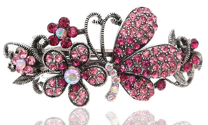 Заколка для волос Летнее настроение в византийском стиле от D.Mari. Кристаллы Aurora Borealis, кристаллы розового цвета, бижутерный сплав серебряного тона. Гонконг331668Заколка для волос Летнее настроениев византийском стиле от D.Mari. Кристаллы Aurora Borealis, кристаллы розового цвета, бижутерный сплав серебряного тона. Гонконг. Размер - 9 х 4 см.