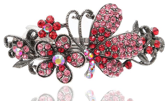 Заколка для волос Летнее настроение в византийском стиле от D.Mari. Кристаллы Aurora Borealis, кристаллы рубинового и розового цвета, бижутерный сплав серебряного тона. Гонконг331668Заколка для волос Летнее настроениев византийском стиле от D.Mari. Кристаллы Aurora Borealis, кристаллы рубинового и розового цвета, бижутерный сплав серебряного тона. Гонконг. Размер - 9 х 4 см.