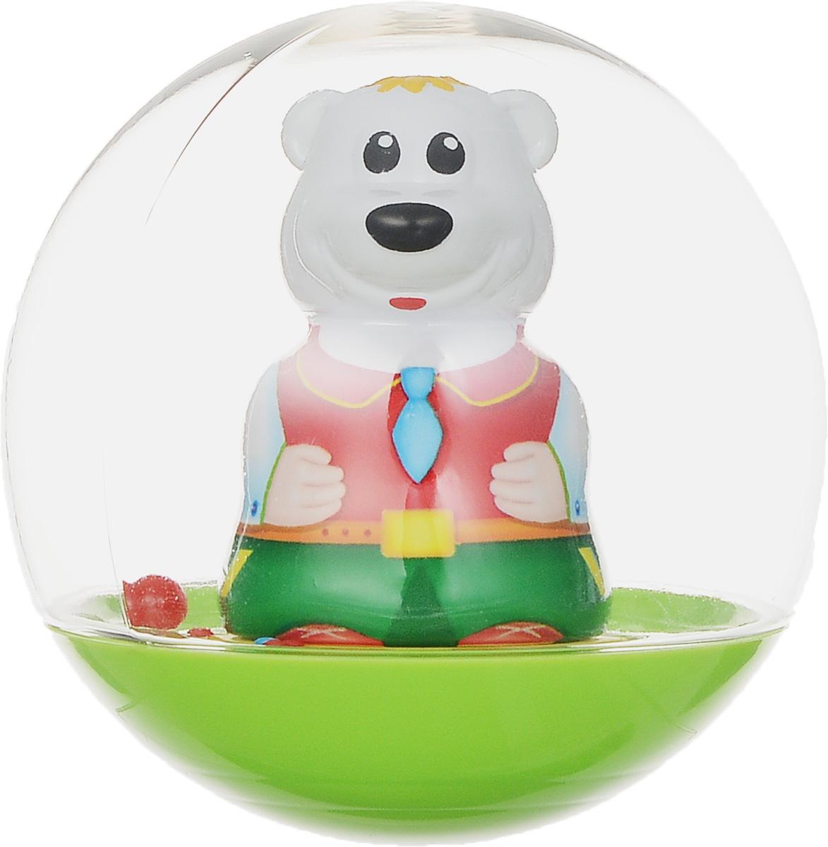 Stellar Погремушка-неваляшка Мишка цвет салатовый красный1578_салатовый, в галстукеПогремушка-неваляшка Stellar Мишка не позволит скучать вашему малышу на улице, дома и во время водных процедур. Игрушка выполнена из безопасного материала в виде симпатичного медвежонка в прозрачном шаре. Неваляшка забавно покачивается под приятный звук погремушки, развлекая малыша. Игра с неваляшкой способствует развитию мелкой моторики, координации, слуха и цветового восприятия. УВАЖАЕМЫЕ КЛИЕНТЫ! Обращаем ваше внимание на возможные изменения в дизайне, связанные с ассортиментом продукции. Поставка осуществляется в зависимости от наличия на складе.