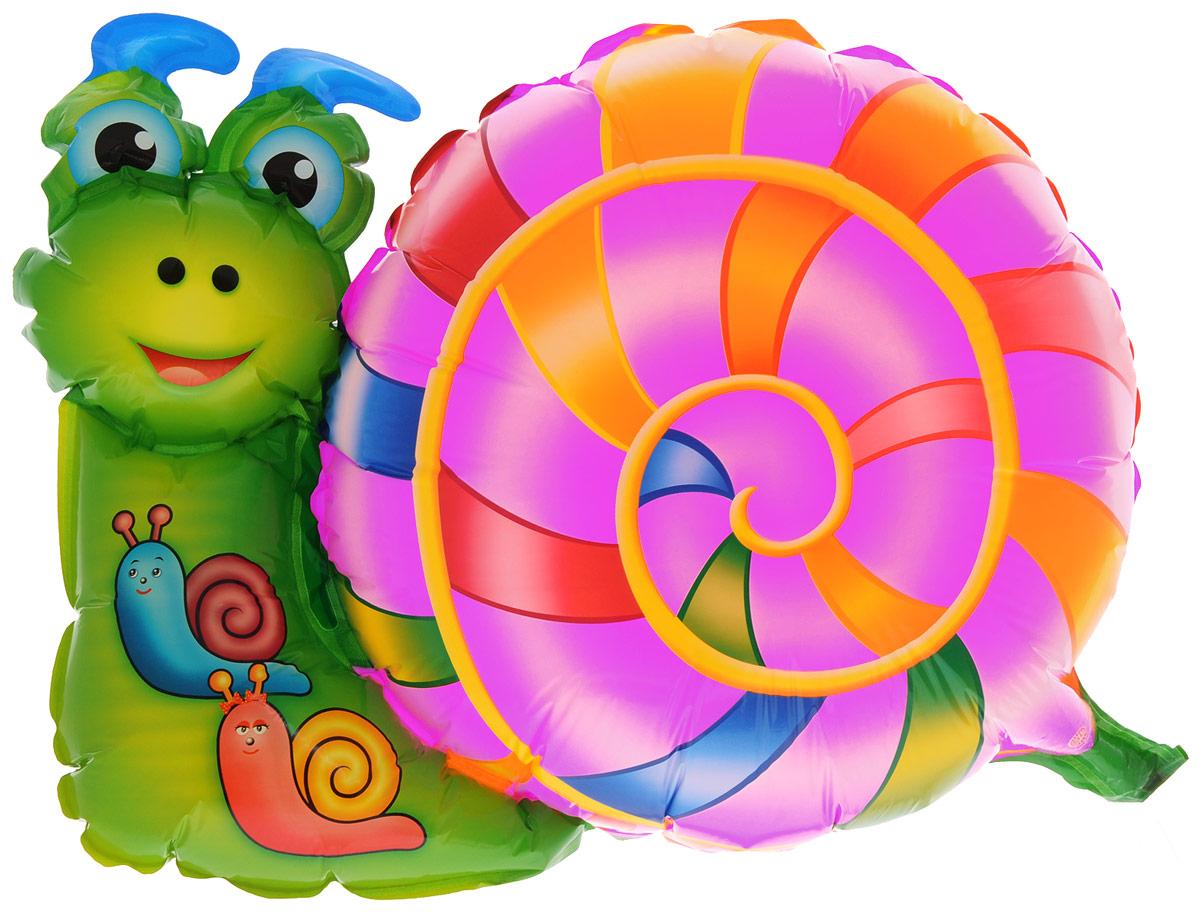 Sima-land Шар воздушный шар Улитка цвет розовый зеленый