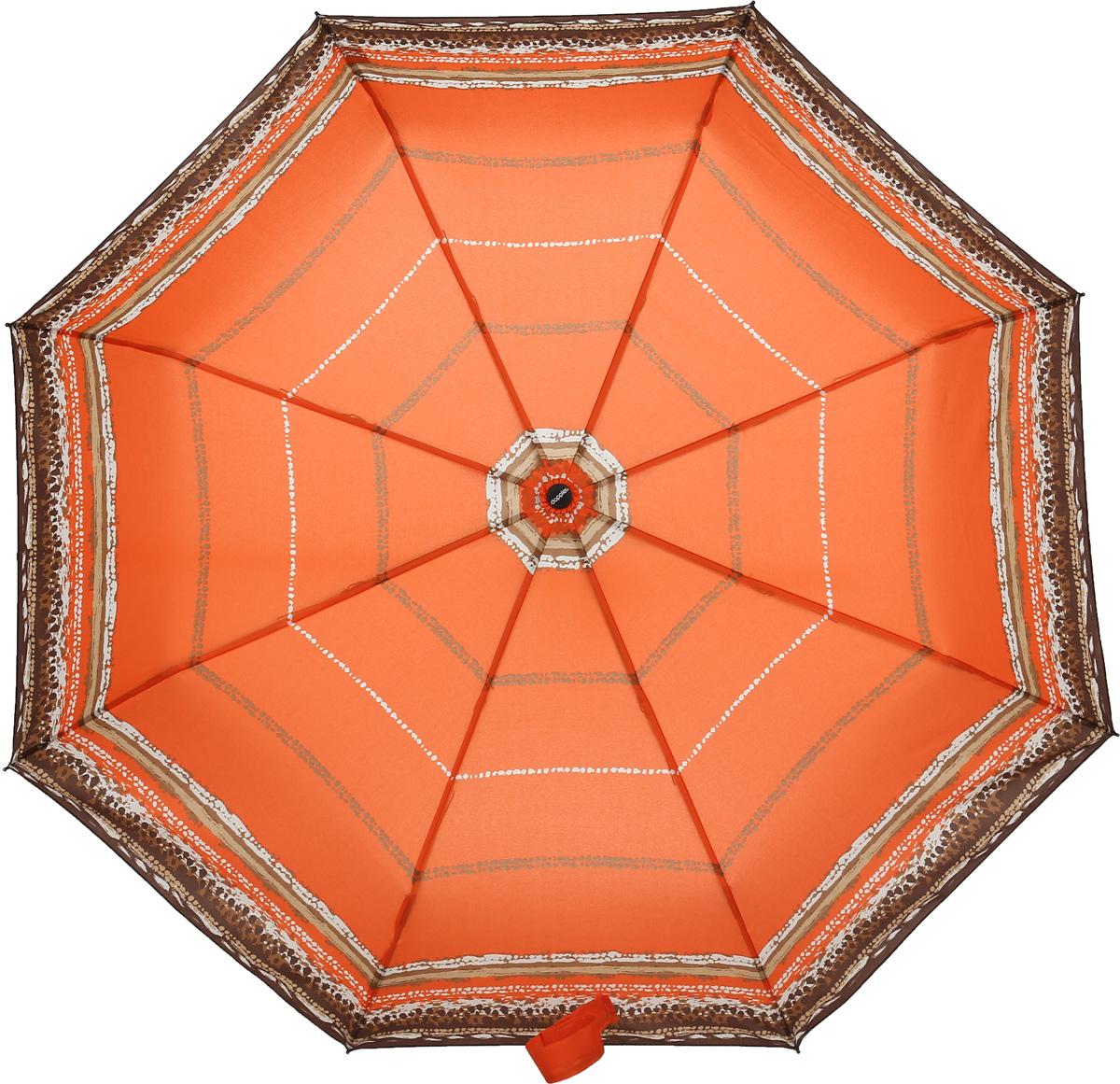 Doppler Зонт Style, 3 сложения, система антиветер, лакированная ручка. 744146521 orange wave744146521 orange waveЗонт Doppler, всемирно известный бренд, имеющий многолетнюю традицию.