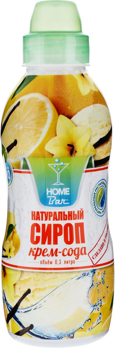 Home Bar Крем-Сода натуральный сироп, 0,5 л
