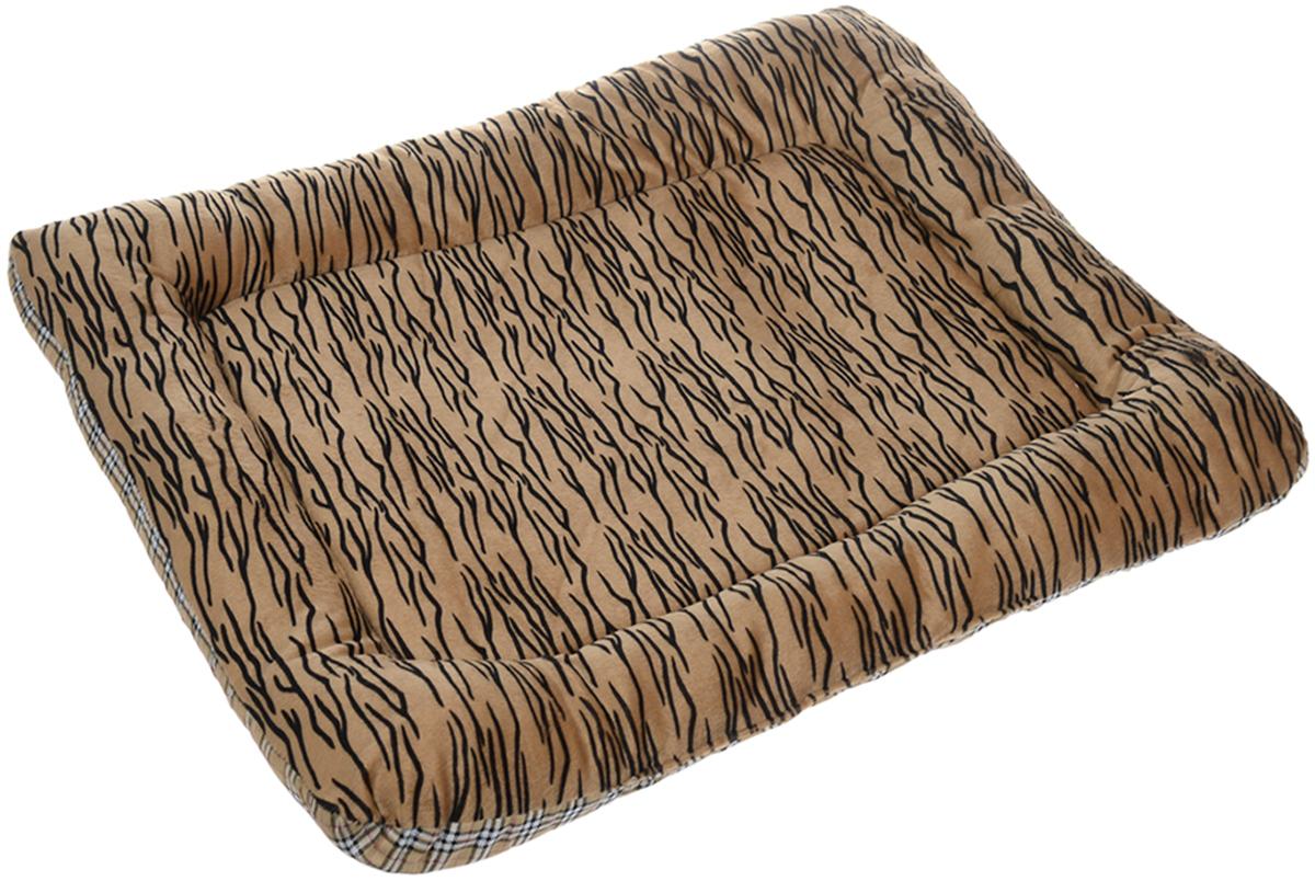 Матрас для животных Каскад Тигр. №1, цвет: коричневый, черный, белый, 48 х 31 см91002753Матрас для животных Каскад Тигр. №1, изготовленный из текстиля и искусственного меха, идеально подойдет для переносок и автомобилей. Наполнитель выполнен из синтепона. Такой матрас поддерживает температурный баланс вашего питомца в любое время года. Яркий дизайн позволяет изделию выглядеть привлекательным даже в период линьки животного.