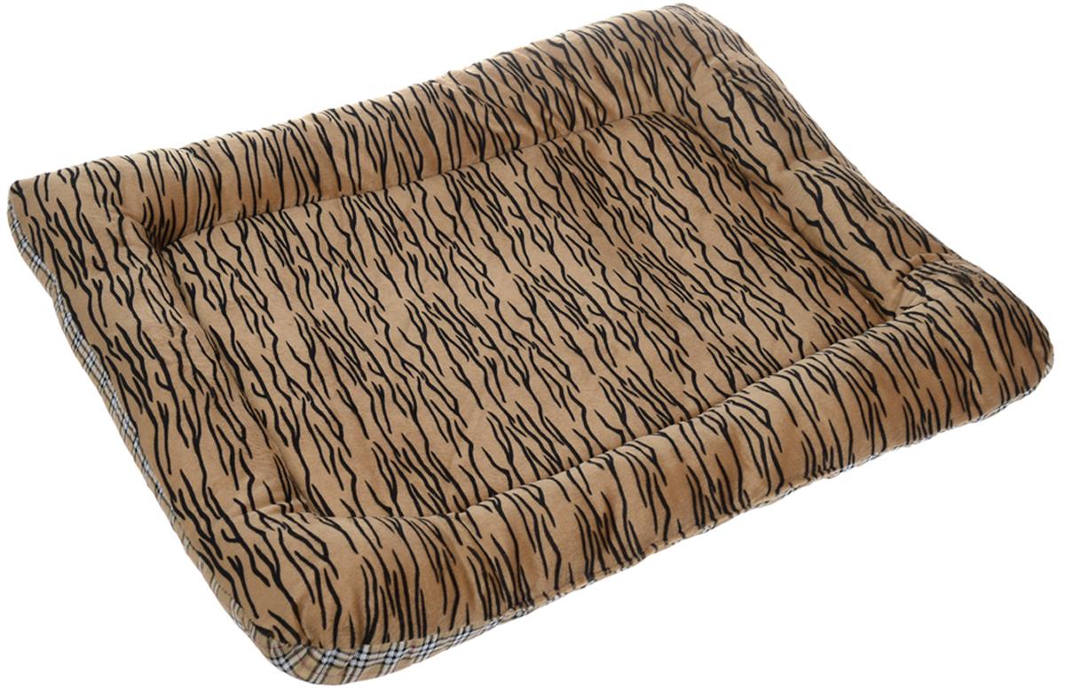 Матрас для животных Каскад Тигр. №2, цвет: коричневый, черный, белый, 56 х 39 см91002754Матрас для животных Каскад Тигр. №2, изготовленный из текстиля и искусственного меха, идеально подойдет для переносок и автомобилей. Наполнитель выполнен из синтепона. Такой матрас поддерживает температурный баланс вашего питомца в любое время года. Яркий дизайн позволяет изделию выглядеть привлекательным даже в период линьки животного.
