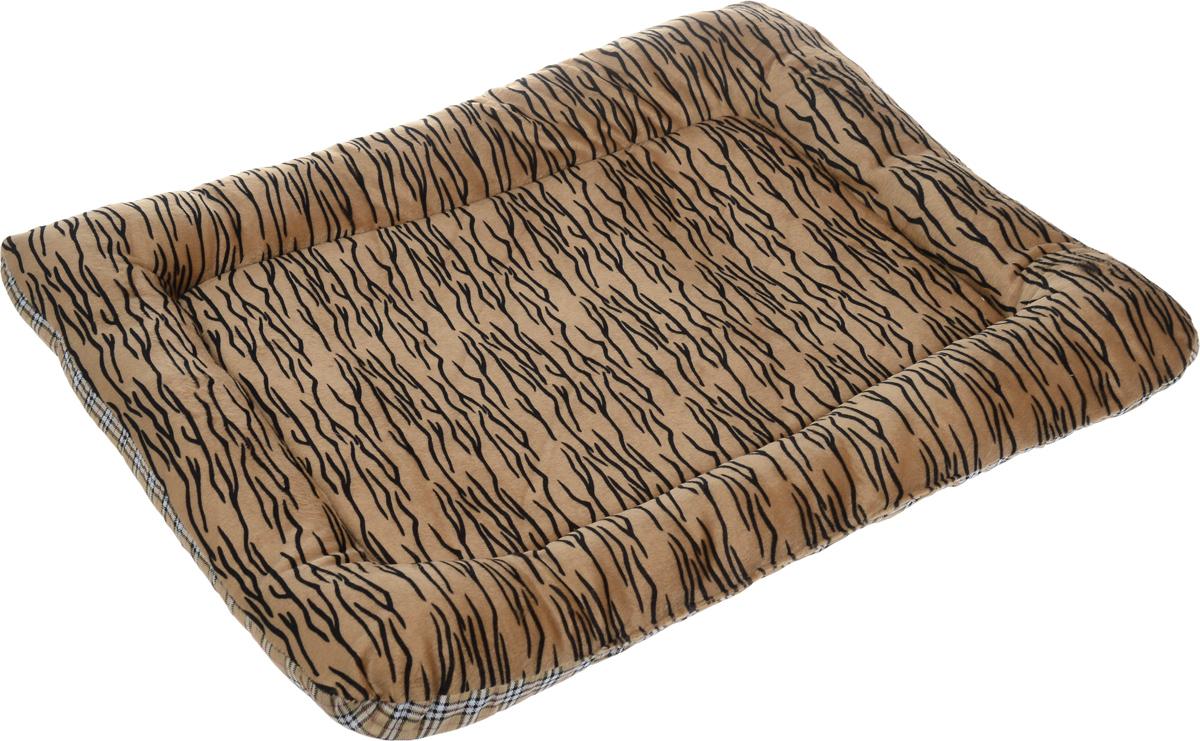 Матрас для животных Каскад Тигр. №4, цвет: коричневый, черный, белый, 72 х 56 см91002756Матрас для животных Каскад Тигр. №4, изготовленный из текстиля и искусственного меха, идеально подойдет для переносок и автомобилей. Наполнитель выполнен из синтепона. Такой матрас поддерживает температурный баланс вашего питомца в любое время года. Яркий дизайн позволяет изделию выглядеть привлекательным даже в период линьки животного.