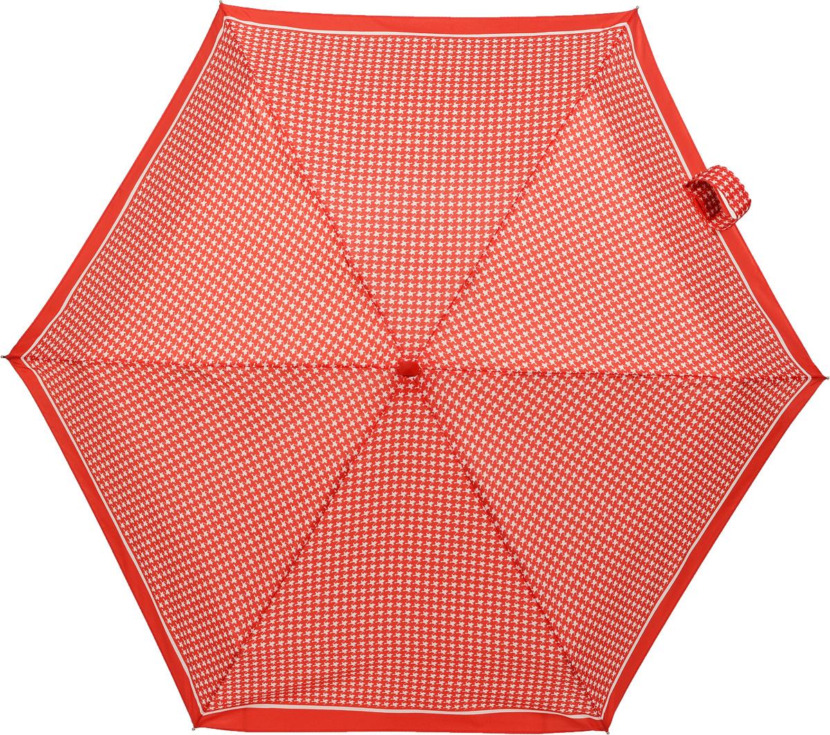 Зонт женский механика Fulton, расцветка: красная гусиная лапка. L501-2237 RedPuppytoothL501-2237 RedPuppytoothПрочный, необыкновенно компактный зонт, который с легкостью поместится в маленькую сумочку. Удобный плоский чехол. Облегченный алюминиевый каркас с элементами из фибергласса. Ветроустойчивая конструкция. Размеры зонта в сложенном виде 15смх6смх3см, диаметр купола 87 см.