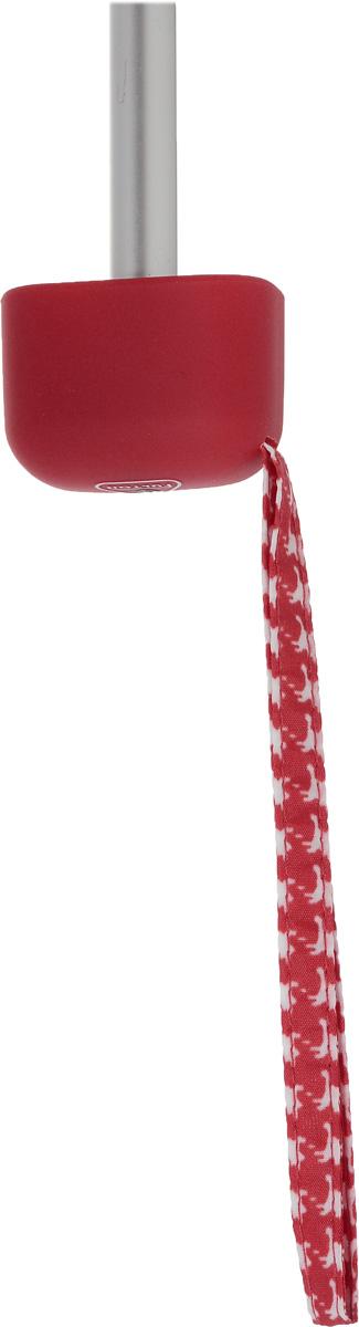 Зонт женский механика Fulton, расцветка: красная гусиная лапка. L501-2237 RedPuppytooth