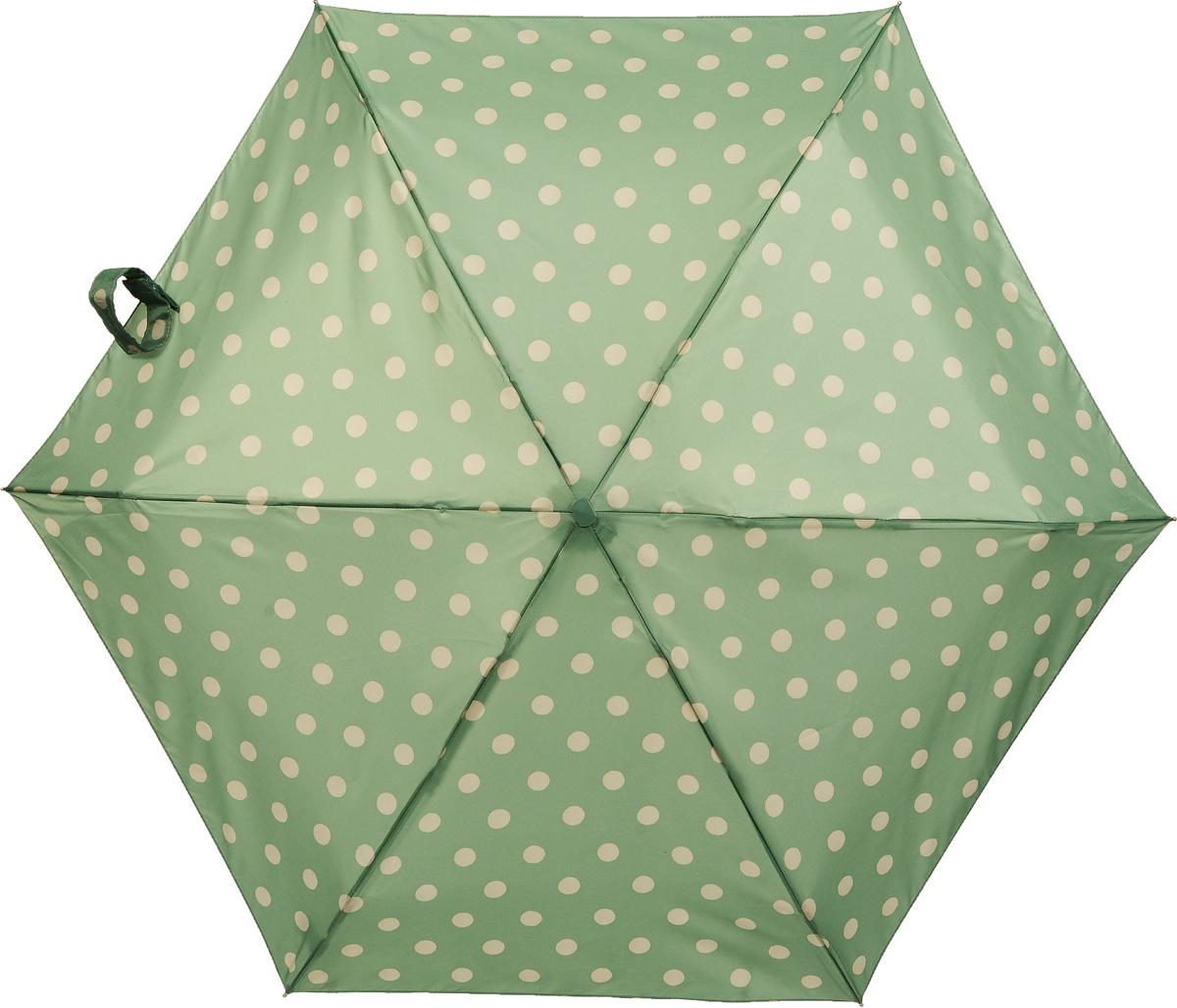 Зонт женский механика Cath Kidston Fulton, расцветка: зеленый горох. L521-3130 Button Spot GreenL521-3130 ButtonSpotGreenПрочный, необыкновенно компактный зонт, который с легкостью поместится в маленькую сумочку. Удобный плоский чехол. Облегченный алюминиевый каркас с элементами из фибергласса. Ветроустойчивая конструкция. Размеры зонта в сложенном виде 15смх6смх3см, диаметр купола 87 см.