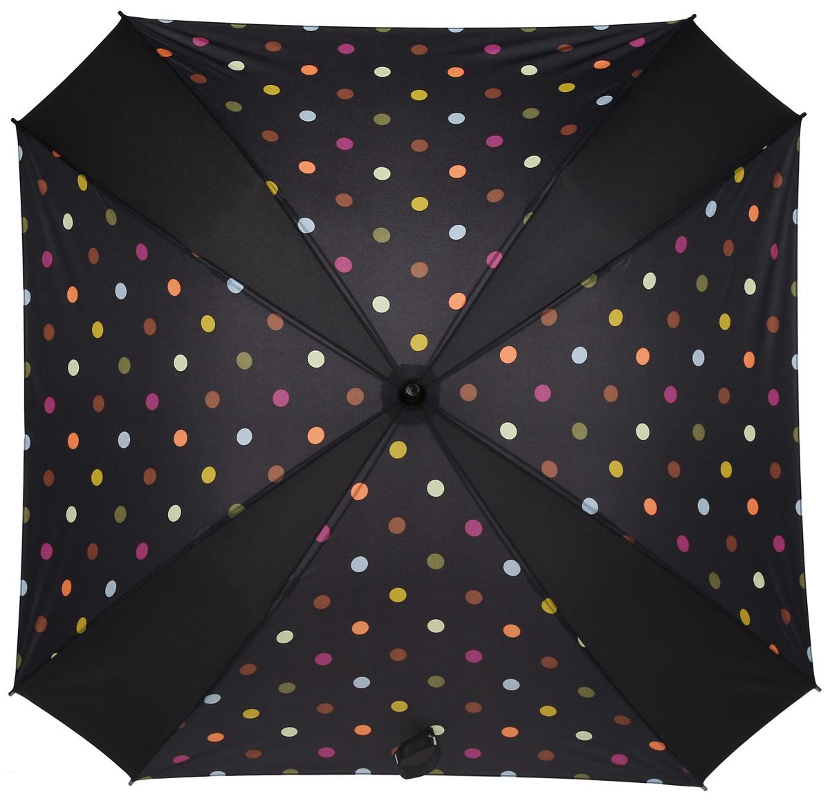 Зонт-трость Reisenthel, цвет: черный. YM7009YM7009Ни снег, ни проливной дождь не страшны, когда с вами ваш надежный друг - красивый зонт-трость. А надежен он благодаря своей инновационной форме в виде октагона - фигуры с 8 углами. У зонта гибкие спицы со специальными пружинами, которые не сломаются. При сильном ветре зонт просто вывернется наизнанку. А вот острый наконечник и ручка, которая позволяет повесить зонт - самые что ни на есть классические, удобные и красивые. Чтобы просушить его, просто оставьте открытым (пожалуйста, не сворачивайте зонт, пока он мокрый).