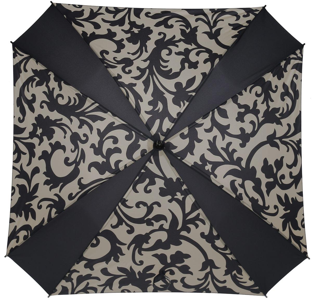 Зонт-трость Reisenthel, цвет: бежевый, черный. YM7027YM7027Ни снег, ни проливной дождь не страшны, когда с вами ваш надежный друг - красивый зонт-трость. А надежен он благодаря своей инновационной форме в виде октагона - фигуры с 8 углами. У зонта гибкие спицы со специальными пружинами, которые не сломаются. При сильном ветре зонт просто вывернется наизнанку. А вот острый наконечник и ручка, которая позволяет повесить зонт - самые что ни на есть классические, удобные и красивые. Чтобы просушить его, просто оставьте открытым (пожалуйста, не сворачивайте зонт, пока он мокрый).