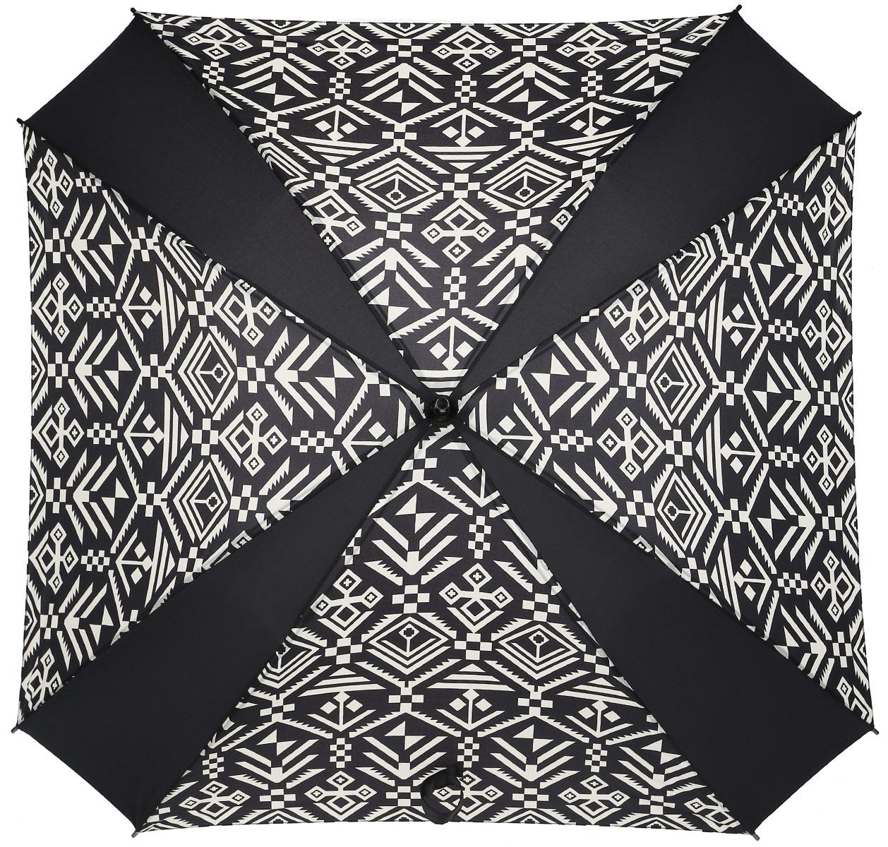 Зонт-трость Reisenthel, цвет: черный, белый. YM7034YM7034Ни снег, ни проливной дождь не страшны, когда с вами ваш надежный друг - красивый зонт-трость. А надежен он благодаря своей инновационной форме в виде октагона - фигуры с 8 углами. У зонта гибкие спицы со специальными пружинами, которые не сломаются. При сильном ветре зонт просто вывернется наизнанку. А вот острый наконечник и ручка, которая позволяет повесить зонт - самые что ни на есть классические, удобные и красивые. Чтобы просушить его, просто оставьте открытым (пожалуйста, не сворачивайте зонт, пока он мокрый).