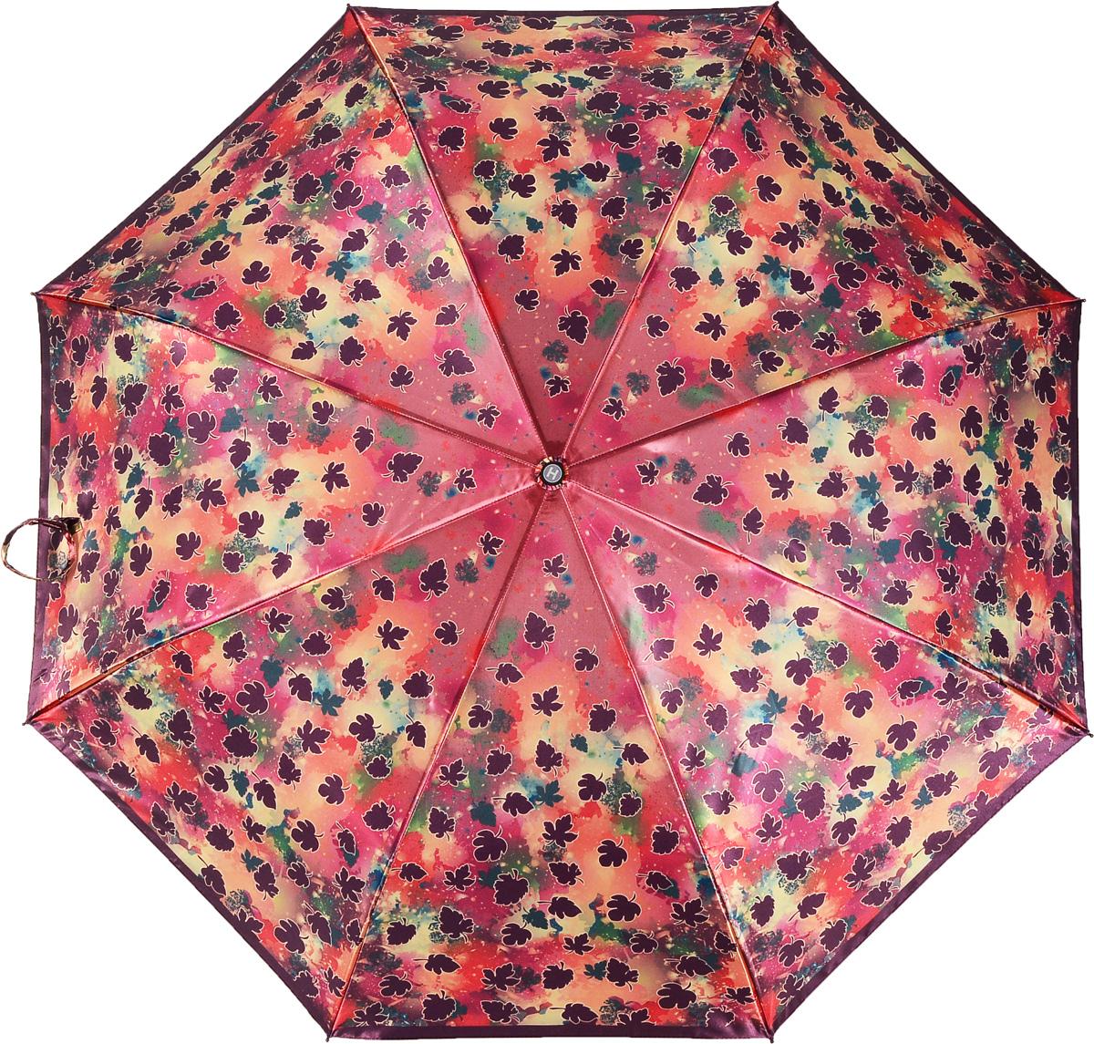 Зонт женский Henry Backer, 3 сложения, цвет: мультиколор. U21205 Falling leavesU21205 Falling leavesЭффектный женский зонт «Падающие листья» с сатиновым куполом, автомат У зонта прочный стальной ветроустойчивый каркас с элементами из фибергласса. Рукоятка выполнена из комфортного для ладони, нескользящего материала.
