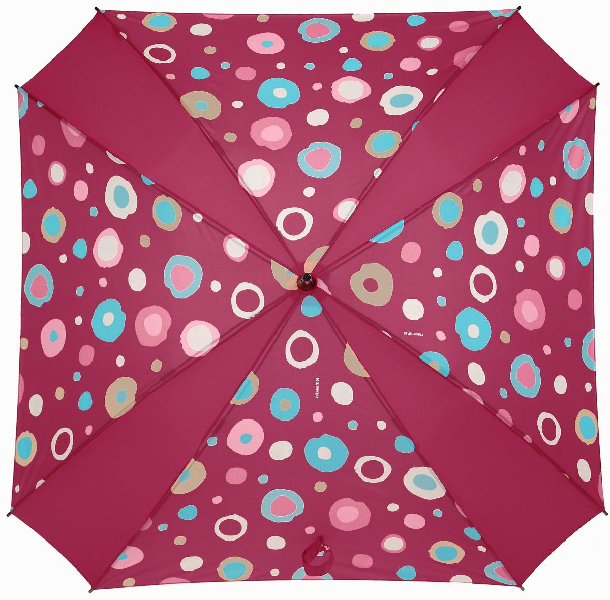 Зонт-трость Reisenthel, цвет: красный. YM3048YM3048Ни снег, ни проливной дождь не страшны, когда с вами ваш надежный друг - красивый зонт-трость. А надежен он благодаря своей инновационной форме в виде октагона - фигуры с 8 углами. У зонта гибкие спицы со специальными пружинами, которые не сломаются. При сильном ветре зонт просто вывернется наизнанку. А вот острый наконечник и ручка, которая позволяет повесить зонт - самые что ни на есть классические, удобные и красивые. Чтобы просушить его, просто оставьте открытым (пожалуйста, не сворачивайте зонт, пока он мокрый).