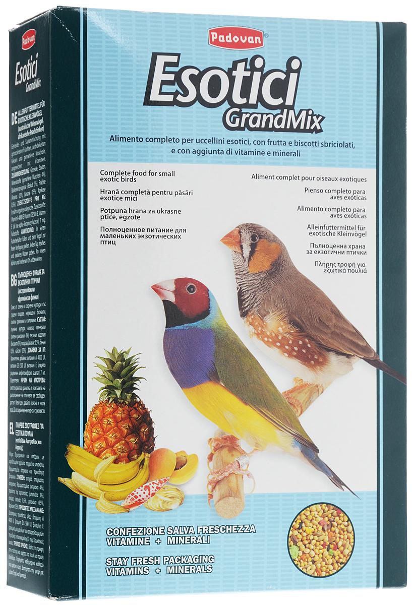 Корм для экзотических птиц Padovan Grandmix Esotici, 1 кг16822Корм Padovan Grandmix Esotici - это комплексный, высококачественный основной корм с фруктами и бисквитной крошкой. Состав: злаки, семена, минеральные вещества (измельченные ракушки 4%), хлебопродукты (печенье 3%), фрукты (ананас 0,5%, банан 0,5%, абрикос 0,5%). Вес: 1 кг. Товар сертифицирован.