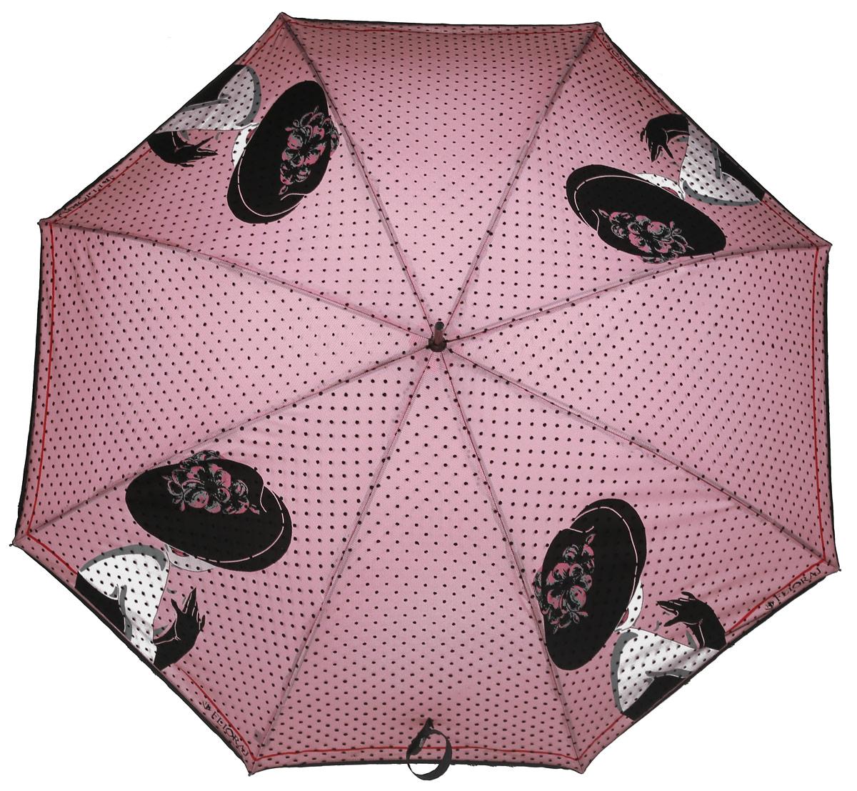 Зонт женский Flioraj, механика, трость, цвет: розовый. 121202 FJ121202 FJЭлегантный зонт FJ. Уникальный каркас из анодированной стали, карбоновые спицы помогут выдержать натиск ураганного ветра. Улучшенный механизм зонта, максимально комфортная ручка держателя, увеличенный в длину стержень, тефлоновая пропитка материала купола - совершенство конструкции с изысканностью изделия на фоне конкурентоспособной цены.
