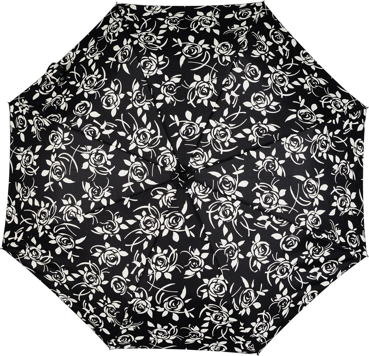 Зонт женский автомат Fulton, расцветка: розы. L346-2827 RoseDarlingL346-2827 RoseDarlingЖенский зонт «Розы», черный, автомат, Rose Darling, open&close, L346 4F2827, Fulton Идеальный зонт для любителей черного цвета в гардеробе. Розы, стилизованные под трафаретную роспись, всего лишь намекают на белый цвет. Не оспаривая главенство черного, они деликатно смягчают его классическую строгость и придают настроение женственности лаконичной, элегантно сдержанной модели. Конструкция зонта ветроустойчивая.