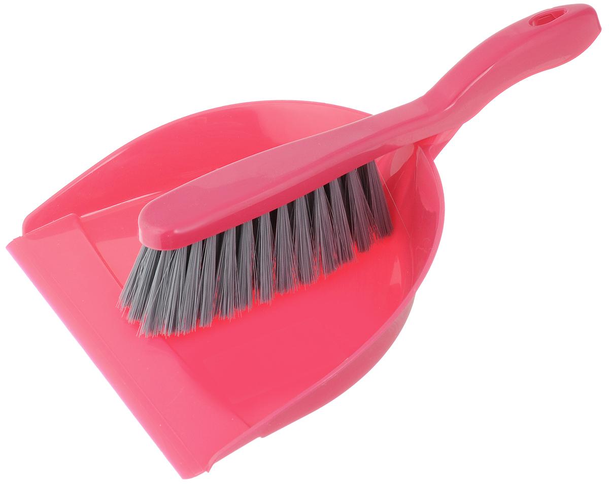 Набор для уборки York Коралл, цвет: малиновый, серый, 2 предмета6208_малиновый, серыйНабор для уборки York Коралл, выполненный из сложных полимеров, состоит из совка и щетки. Вместительный совок удерживает собранный мусор, позволяет эффективно и быстро совершать уборку в любом помещении. Щетка-сметка имеет удобную форму, позволяющую вымести мусор даже из труднодоступных мест. Изделия оснащены ручками с отверстиями для подвешивания. С набором York уборка станет легче и приятнее. Общая длина щетки-сметки: 27 см. Размер рабочей части щетки: 14 х 5 х 5 см. Длина совка: 30 см. Размер рабочей части совка: 22 х 19 х 5 см.