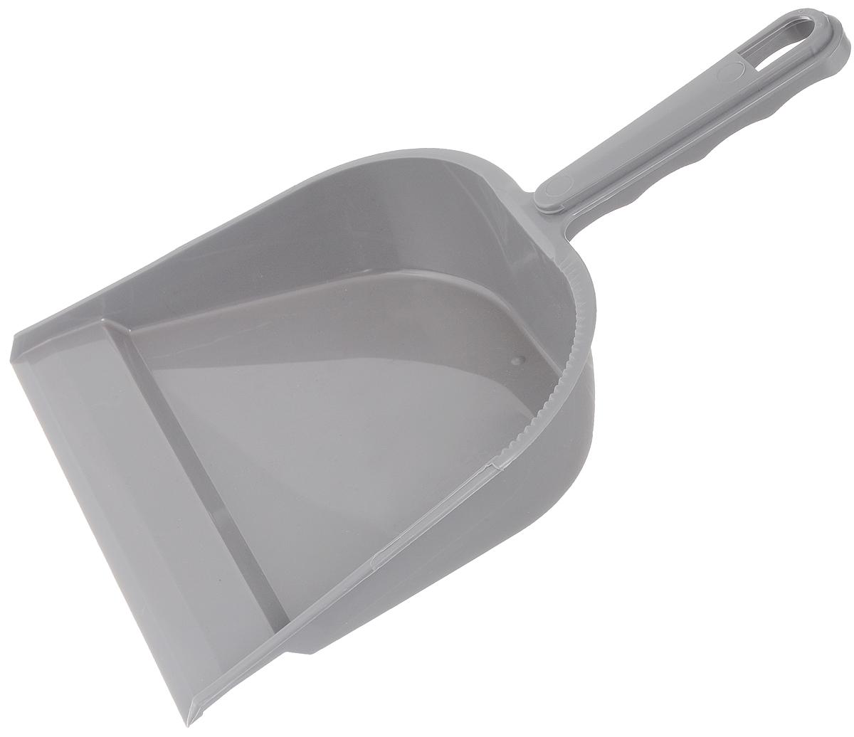 Совок York, цвет: серый. 61016101_серыйСовок York, выполненный из прочного полимера, имеет удобную эргономичную ручку с отверстием для подвеса. Изделие предназначено для сбора мусора и пыли при уборке помещений. Длина совка с учетом ручки: 30 см. Ширина совка по кромке: 22 см.