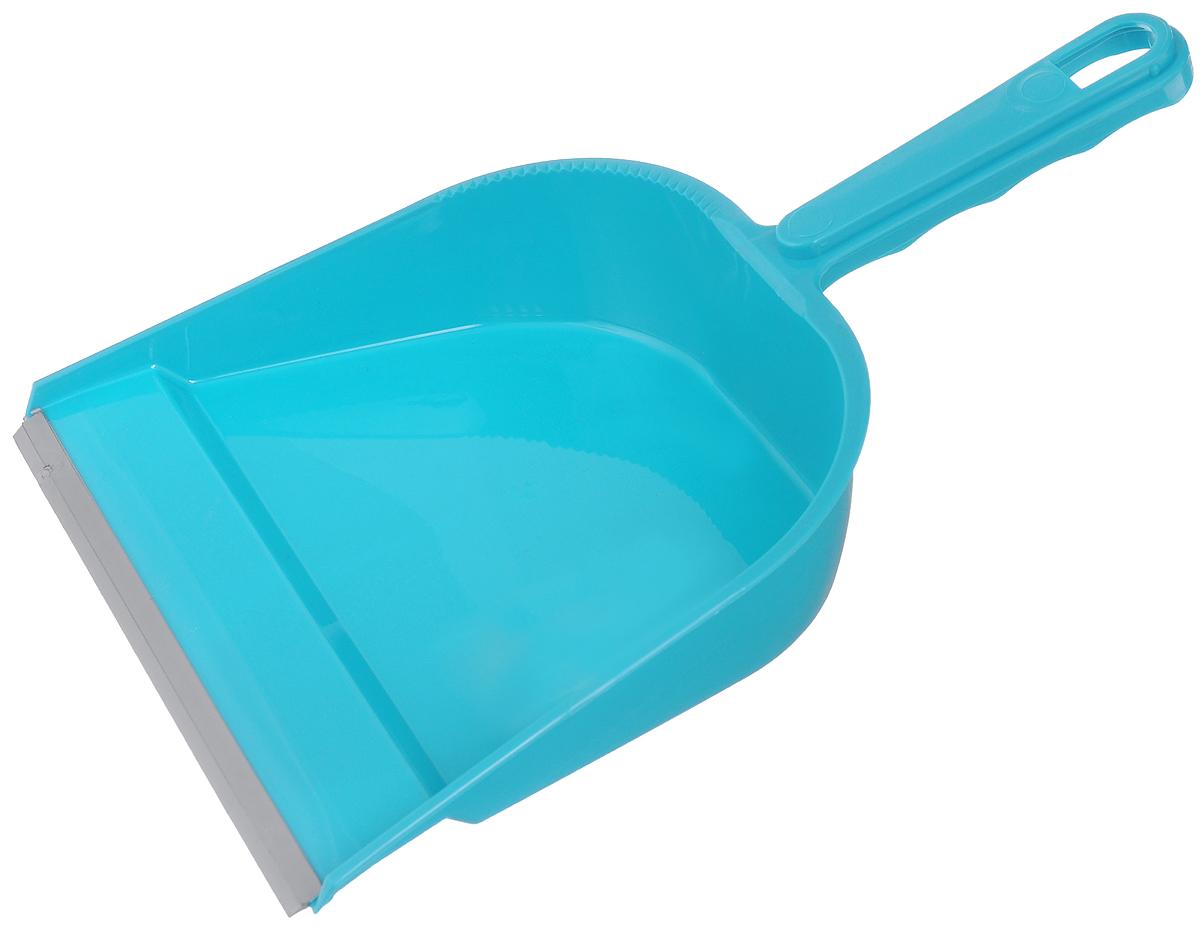 Совок York, с резиновым краем, цвет: бирюзовый6102_бирюзовыйСовок York, выполненный из сложных полимеров, предназначен для сбора мусора и пыли при уборке помещений. Он оснащен эргономичной ручкой с петлей, которая позволит повесить изделие на крючок. Благодаря резиновому краю совка, в него легко сметать грязь и мусор. Размер рабочей части: 22,5 х 19 см. Длина ручки: 12 см.