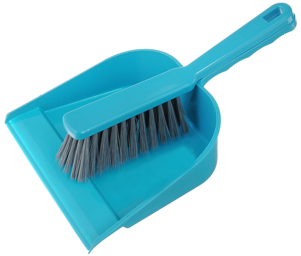 Набор для уборки York, цвет: бирюзовый, серый, 2 шт. 62016201_бирюзовый, серыйНабор York, изготовленный из высококачественного полипропилена и полиэтилентерефталат (ПЭТ), состоит из совка и щетки-сметки. Вместительный совок удерживает собранный мусор, позволяет эффективно и быстро совершать уборку в любом помещении. Щетка-сметка имеет удобную форму, позволяет вымести мусор даже из труднодоступных мест. Совок и щетка-сметка оснащены ручками с отверстиями для подвешивания. С набором York уборка станет легче и приятнее. Общая длина щетки-сметки: 26 см. Размер рабочей части щетки-сметки: 13 х 5 х 5 см. Длина совка: 31 см. Размер рабочей части совка: 22 х 17,5 х 5,5 см.