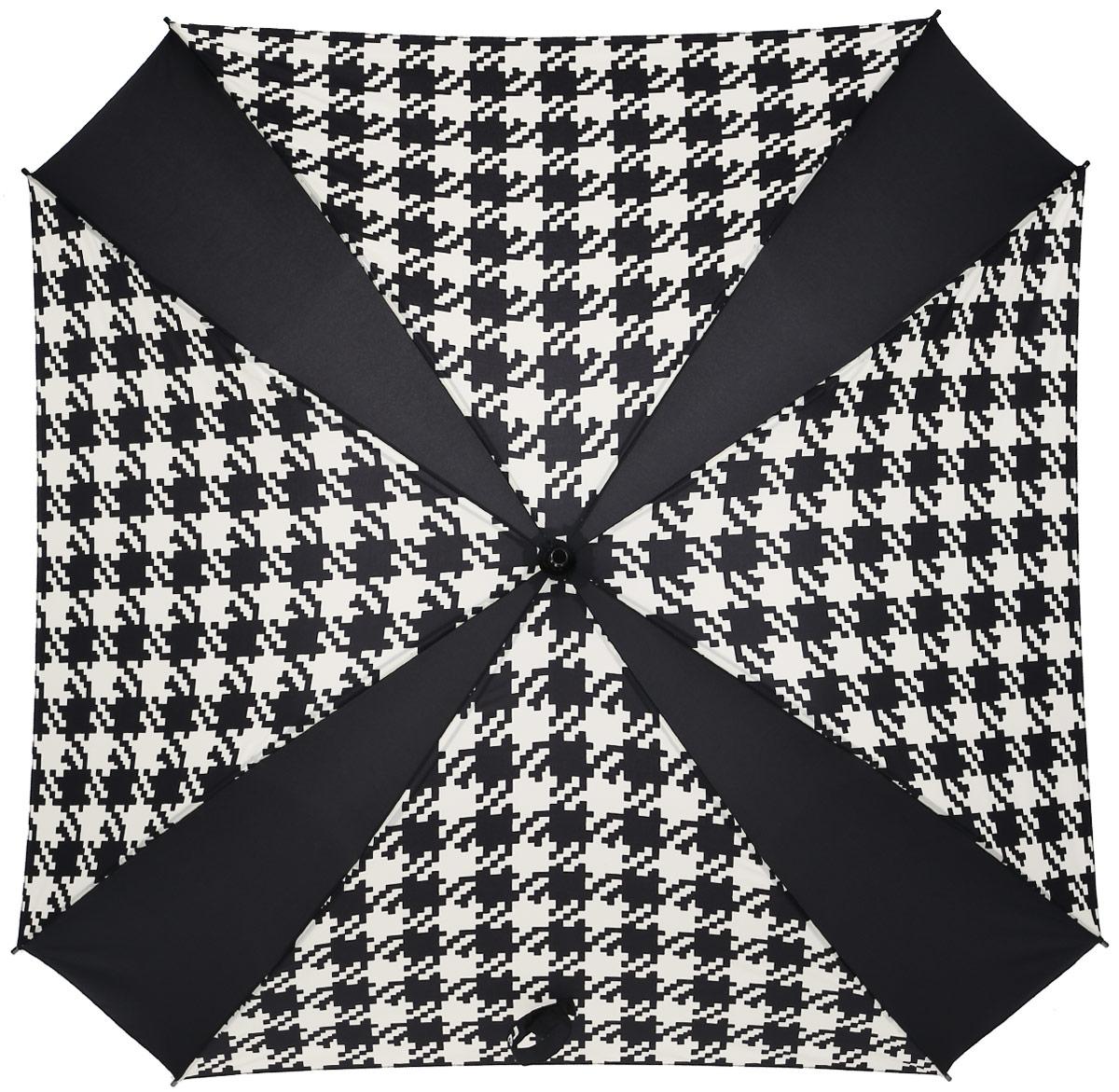 Зонт-трость Reisenthel, цвет: черный, белый. YM7028YM7028Ни снег, ни проливной дождь не страшны, когда с вами ваш надежный друг - красивый зонт-трость. А надежен он благодаря своей инновационной форме в виде октагона - фигуры с 8 углами. У зонта гибкие спицы со специальными пружинами, которые не сломаются. При сильном ветре зонт просто вывернется наизнанку. А вот острый наконечник и ручка, которая позволяет повесить зонт - самые что ни на есть классические, удобные и красивые. Чтобы просушить его, просто оставьте открытым (пожалуйста, не сворачивайте зонт, пока он мокрый).