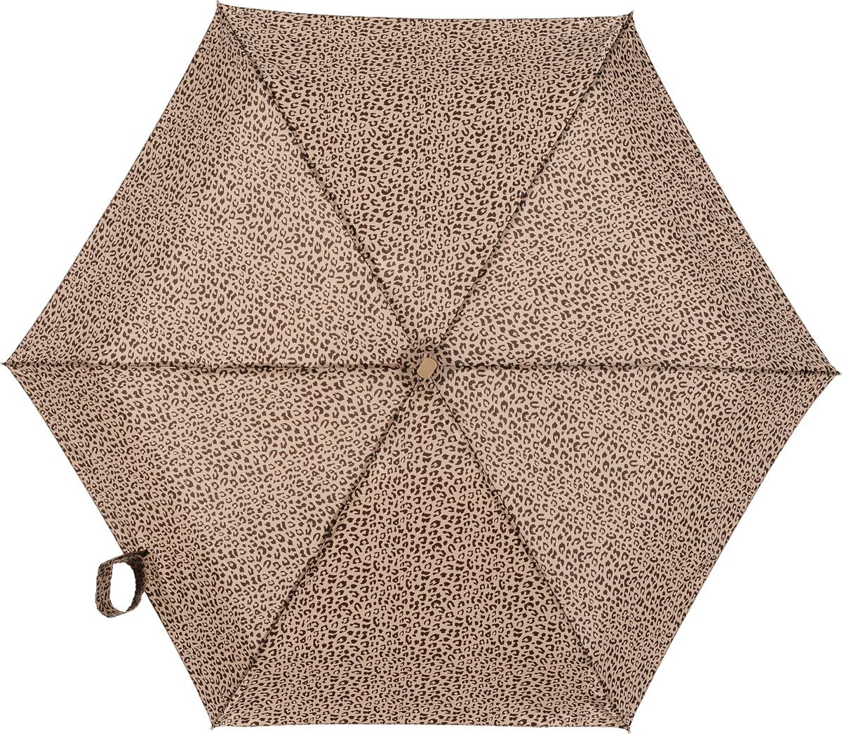 Зонт женский механика Fulton, расцветка: леопард. L501-2746 LeoL501-2746 LeoПрочный, необыкновенно компактный зонт, который с легкостью поместится в маленькую сумочку. Удобный плоский чехол. Облегченный алюминиевый каркас с элементами из фибергласса. Ветроустойчивая конструкция. Размеры зонта в сложенном виде 15смх6смх3см, диаметр купола 87 см.
