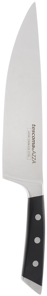 Нож кулинарный Tescoma Azza, длина лезвия 20 см884530Цельнокованый кулинарный нож Tescoma Azza, выполненный из высококачественной нержавеющей стали 18/10, соответствует всем гигиеническим требованиям и дополнен эргономичной ручкой с противоскользящим пластиковым покрытием. Нож с длинным широким клинком обеспечивает комфортную работу и быструю нарезку. Лезвие сформировано и заточено вручную. Кулинарный нож Tescoma Azza займет достойное место среди аксессуаров на вашей кухне. Можно мыть в посудомоечной машине. Длина ножа: 33,5 см. Длина лезвия: 20 см.