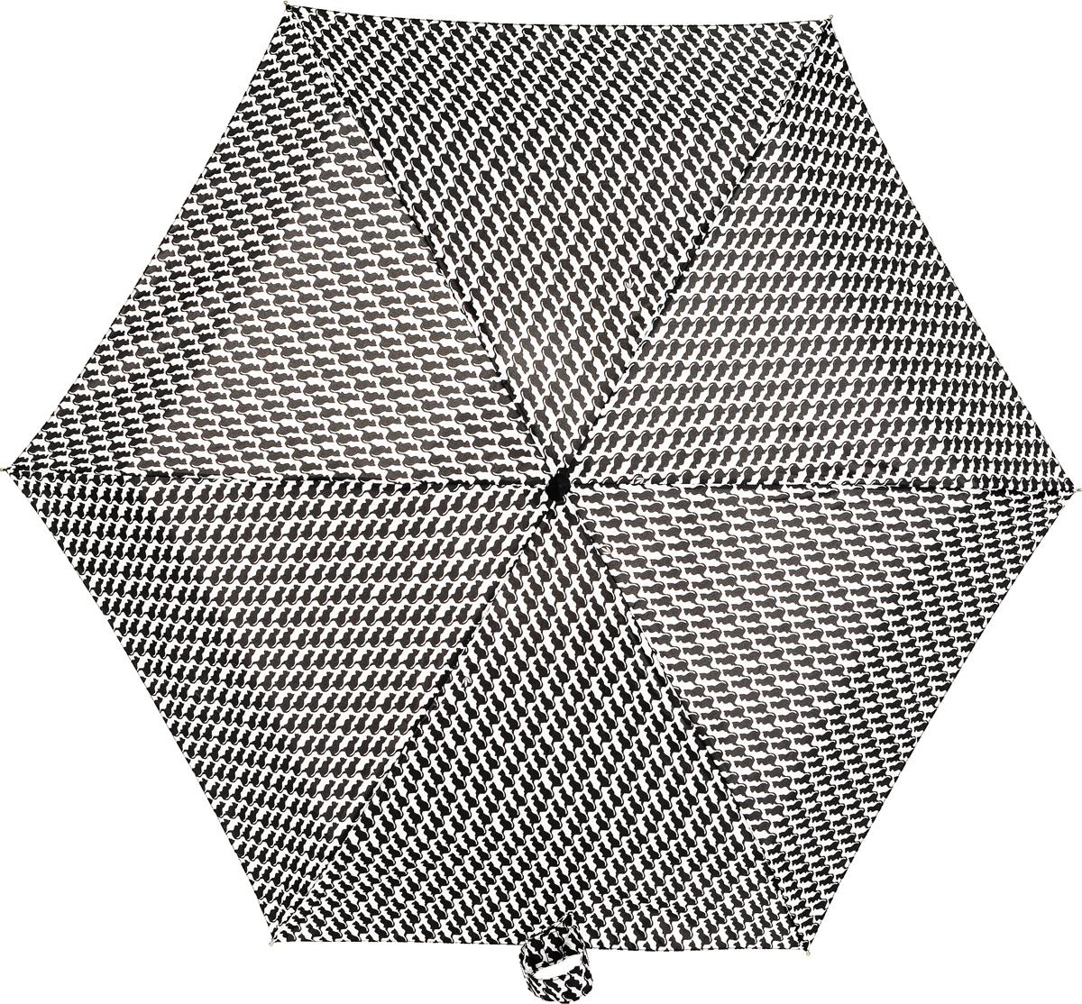 Зонт женский механика Fulton, расцветка: кошки. L501-3020 KittyLinkL501-3020 KittyLinkПрочный, необыкновенно компактный зонт, который с легкостью поместится в маленькую сумочку. Удобный плоский чехол. Облегченный алюминиевый каркас с элементами из фибергласса. Ветроустойчивая конструкция. Размеры зонта в сложенном виде 15смх6смх3см, диаметр купола 87 см.