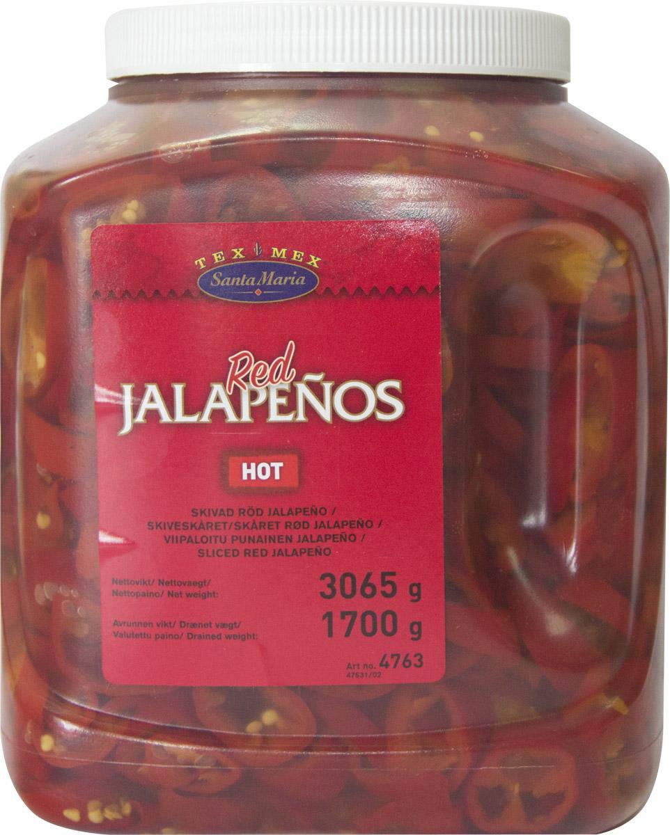 Santa Maria Красный перец халапеньо, 3,065 кг4763Ломтики консервированного красного перца халапеньо имеют ярко выраженный острый вкус. Перец халапеньо используется для приготовления закусок, салатов, пиццы, соусов к мясу и рыбе. Сочный и пикантный вкус красных ломтиков перца халапеньо от Santa Maria сделает ваши блюда по-настоящему изысканными. Используйте также в качестве украшения для холодных закусок.