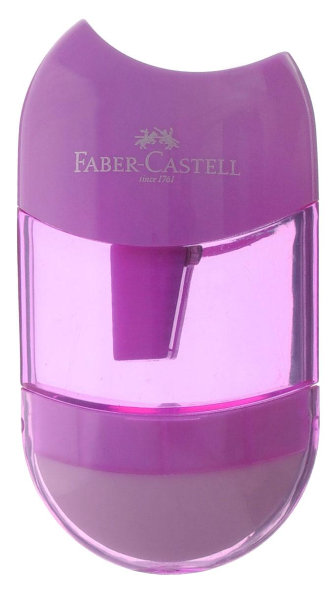 Faber-Castell Точилка с контейнером и ластиком цвет сиреневый183601Точилка Faber-Castell - качественная простая точилка с контейнером для стружек и ластиком. Точилка предназначена для классических, трехгранных, простых и цветных карандашей.