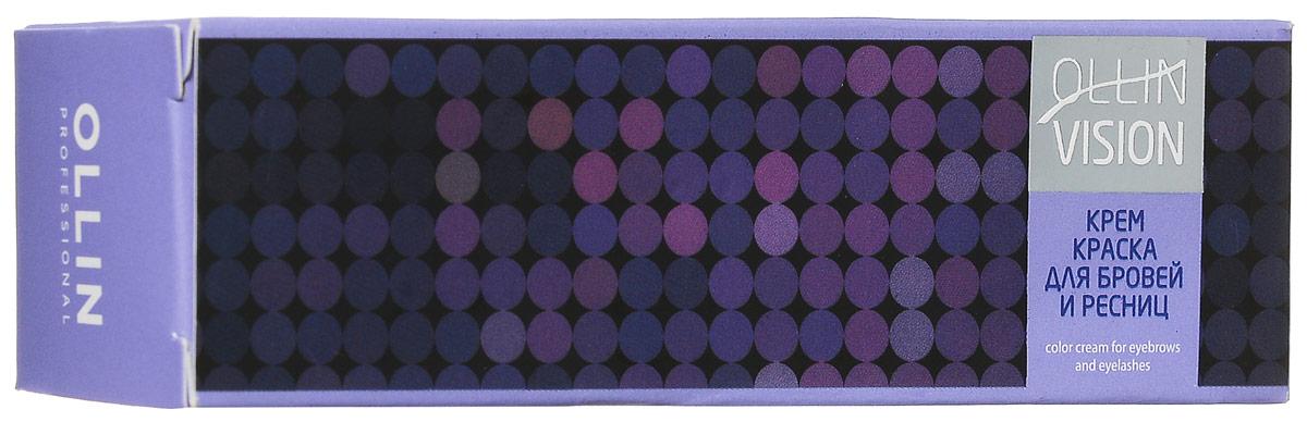Ollin Крем-краска для бровей и ресниц (черный) 20 мл + салфетки под ресницы Vision Color Cream For Eyebrows And Eyelashes (Black) 15 пар ( 722293/4620753729773 )