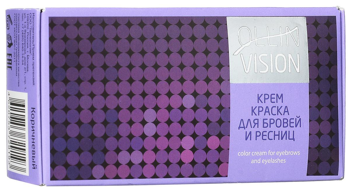 Ollin Крем-краска для бровей и ресниц (коричневый) Vision Set Color Cream For Eyebrows And Eyelashes (Brown) 20+20 мл (в наборе)729193/4620753729193Крем-краска для бровей и ресниц Ollin Vizion Color Cream обеспечивает стойкий результат окрашивания бровей и ресниц. Отличные характеристики в работе. Формула на основе исключительно активных пигментов высочайшего качества гарантирует получение однородного, стойкого цвета. В комплект крем-краски для бровей и ресниц Ollin Vision входит: Крем-краска, 20 мл. Окислитель, 15 мл. Защитные листочки для век. Цвет: коричневый Объём: 20 мл