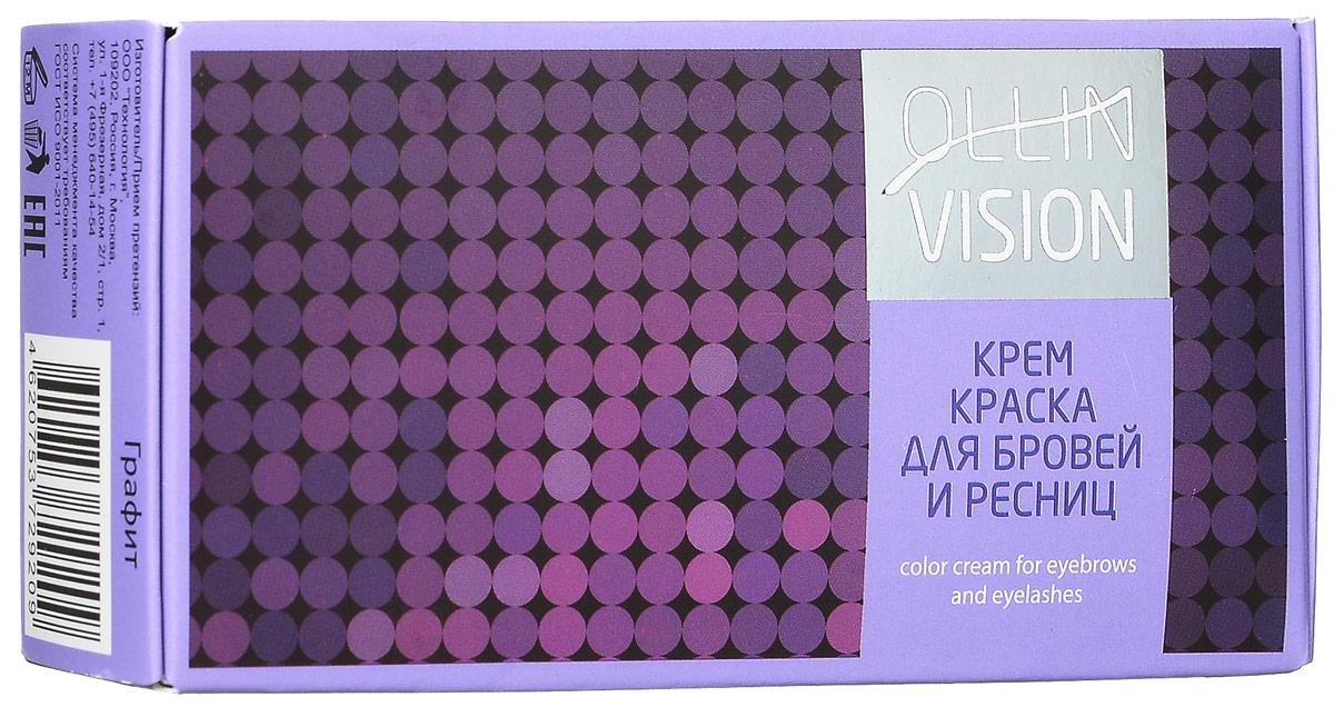 Ollin Крем-краска для бровей и ресниц (графит) Vision Set Color Cream For Eyebrows And Eyelashes (Graphite) 20+20 мл (в наборе) (Ollin Professional)