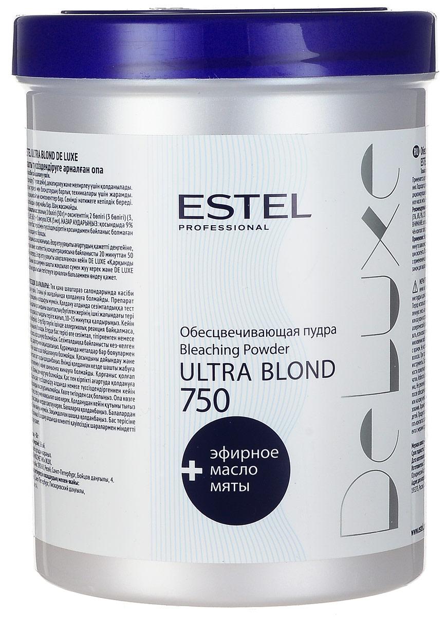 Estel Пудра обесцвечивающая De Luxe Ultra Blond De Luxe 750 гDL/P750Микрогранулированная пудра применяется для обесцвечивания волос (до 7 тонов), декапирования и мелирования. Подходит для любых типов волос и всех технологий блондирования. Гарантирует надежный результат. Обладает приятным запахом, не образует пыли. Бисаболол, входящий в состав пудры, оказывает антисептическое и противовоспалительное действие. Содержит кондиционирующие добавки.