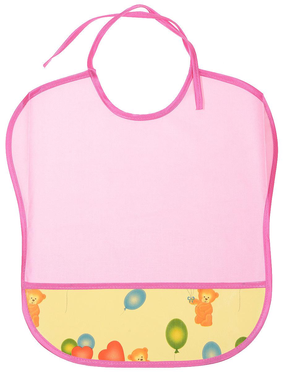 Колорит Нагрудник цвет розовый желтый 33 х 33 см0083_желтый, розовыйНагрудник Колорит с непромокаемым слоем защитит одежду малыша во время кормления и освободит родителей от дополнительных хлопот. Нагрудник изготовлен из клеенки подкладной с ПВХ покрытием и дополнен широким карманом. Яркая расцветка и оригинальный рисунок непременно понравятся вашему малышу. Нагрудник предназначен для многоразового использования, не промокает, предохраняет от загрязнений во время кормления. Пока ваш малыш растет - вы сможете легко контролировать длину изделия и регулировать размер горловины с помощью удобных завязок.