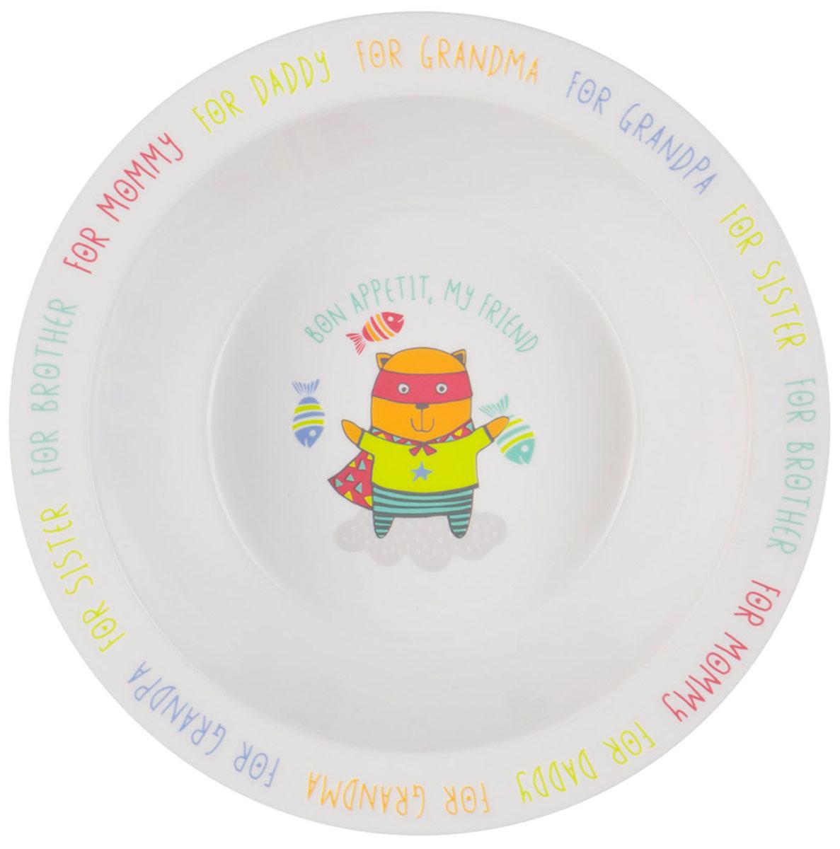 Happy Baby Тарелка детская Кот15016 NEW_кискаТарелка детская Happy Baby Кот изготовлена из безопасного материала. Тарелочка, оформленная веселой картинкой, понравится и малышу, и родителям! Ребенок будет с удовольствием учиться кушать самостоятельно. Тарелочка подходит для горячей и холодной пищи. Яркий дизайн тарелки превращает процесс кормления в увлекательную игру. Можно использовать в СВЧ-печи и мыть в посудомоечной машине. Подходит для детей от 6 месяцев.
