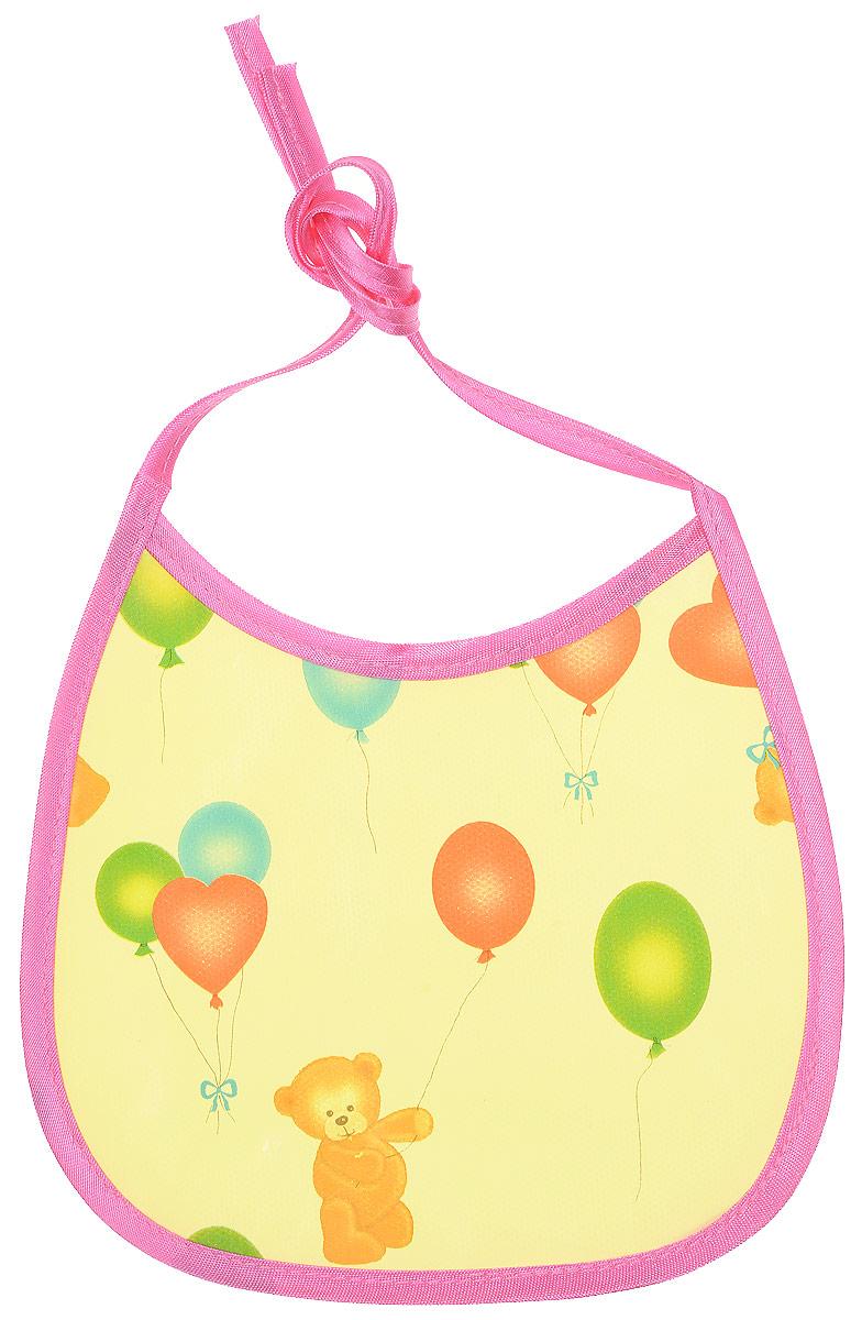 Колорит Нагрудник Мишки с шариками цвет желтый розовый 17 х 17 см81_желтый, розовыйНагрудник Колорит Мишки с шариками с непромокаемым слоем защитит одежду малыша во время кормления и освободит родителей от дополнительных хлопот. Нагрудник на завязках - выбор практичных мамочек, пользоваться таким слюнявчиком можно более длительное время. Пока ваш малыш растет - вы сможете легко контролировать длину изделия и регулировать размер горловины. Лицевая сторона оформлена забавным изображением.