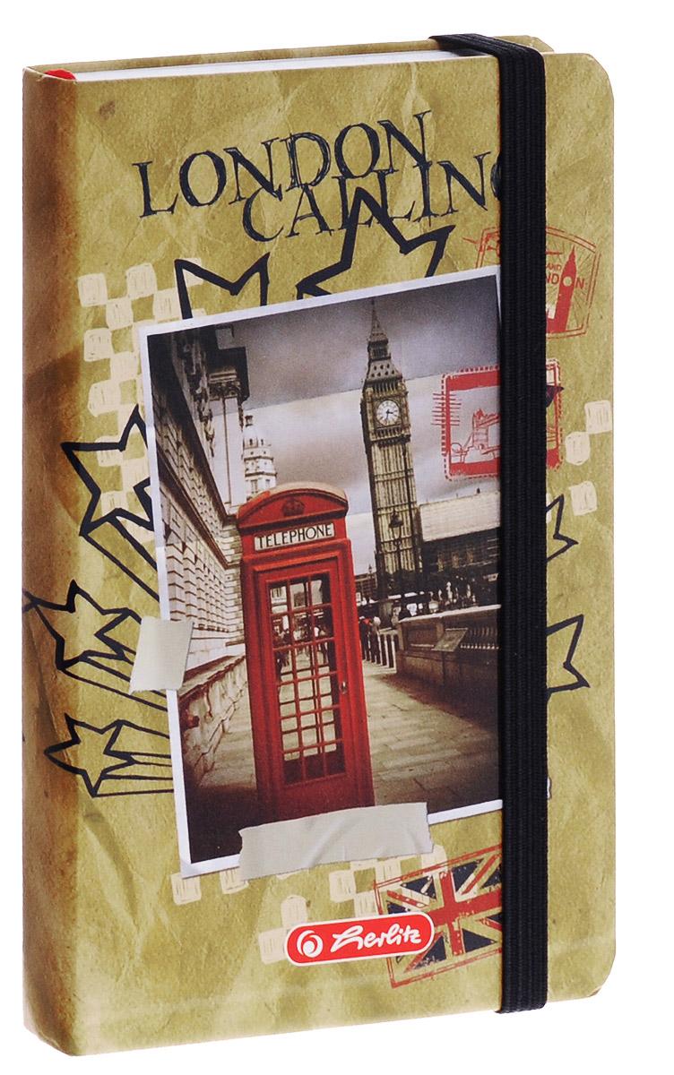Herlitz Записная книжка London 96 листов в клетку11301868Записная книжка Herlitz London - незаменимый атрибут современного человека, необходимый для рабочих и повседневных записей в офисе и дома. Записная книжка содержит 96 листов формата А6 в клетку. Обложка, выполненная из плотного картона, оформлена изображением знаменитой лондонской башни. Прошитый внутренний блок гарантирует полное отсутствие потери листов. Записная книжка Herlitz London станет достойным аксессуаром среди ваших канцелярских принадлежностей. Она подойдет как для деловых людей, так и для любителей записывать свои мысли, рисовать скетчи, делать наброски.