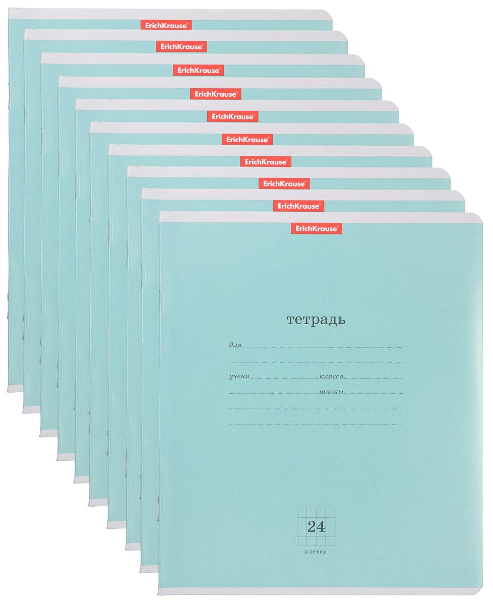 Набор тетрадей Полиграфика Классика в клетку 24 л. зеленый, 10 шт27974