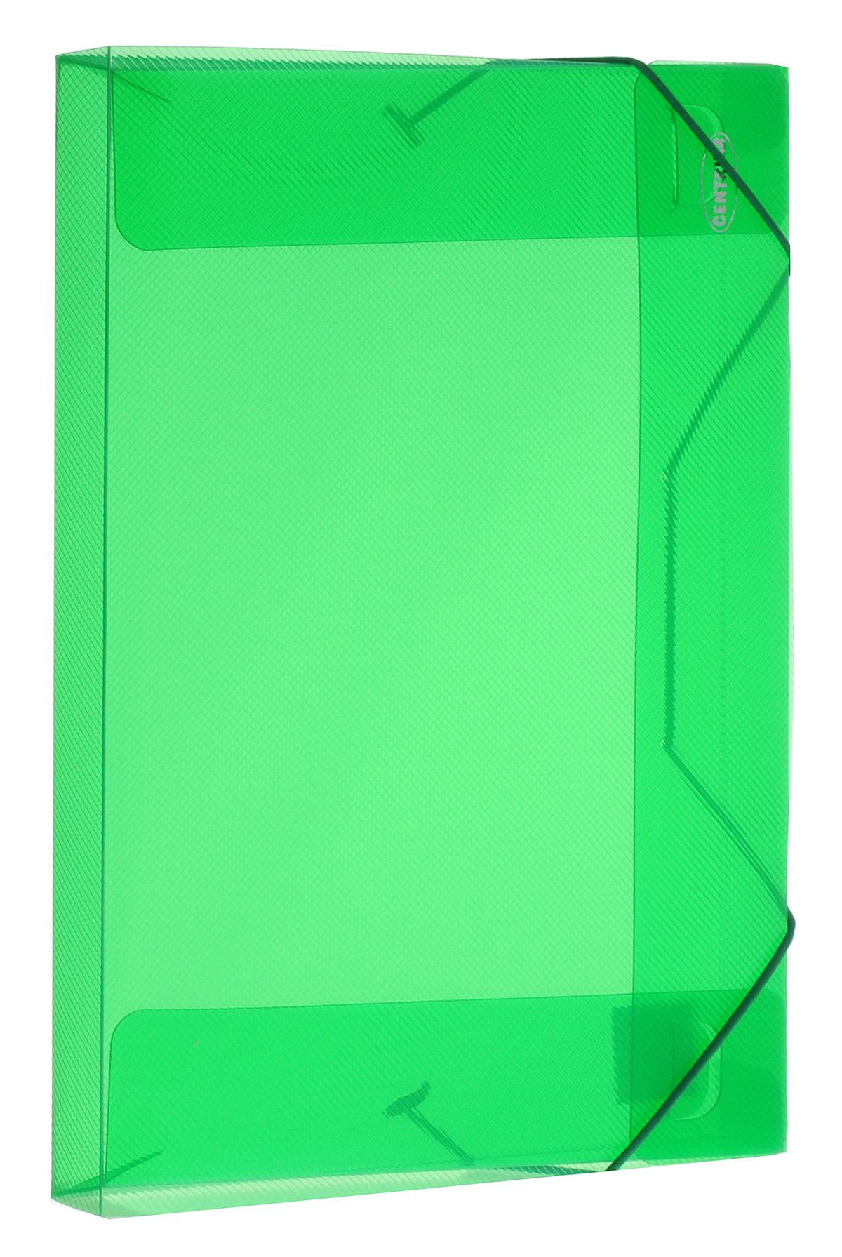 Centrum Папка на резинке цвет зеленый формат А4 8001980019_зеленыйПапка на резинке Centrum станет вашим верным помощником дома и в офисе. Это удобный и функциональный инструмент, предназначенный для хранения и транспортировки больших объемов рабочих бумаг и документов формата А4. Папка изготовлена из износостойкого высококачественного пластика. Состоит из одного вместительного отделения. Закрывается папка при помощи прочной резинки. Папка - это незаменимый атрибут для любого студента, школьника или офисного работника. Такая папка надежно сохранит ваши бумаги и сбережет их от повреждений, пыли и влаги.