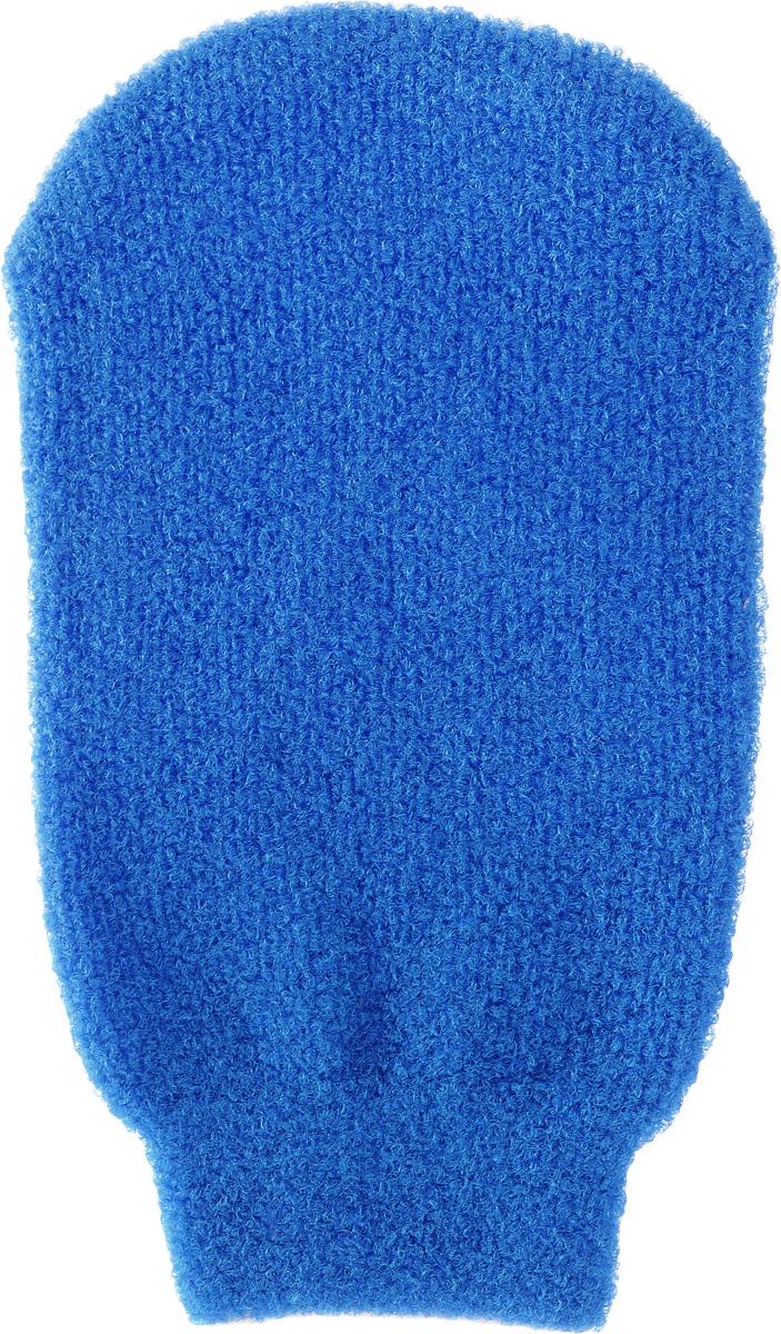 Мочалка-рукавица для тела Fun Fresh Банная, двухсторонняя, цвет: синий1. 8 нов._синийМочалка-рукавица для тела Fun Fresh Банная выполнена из специальных полиэстеровых волокон, которые не раздражают кожу и отлично вспенивают гели и мыло для душа. Благодаря массажной поверхности мочалка улучшает кровообращение и обладает отшелушивающим эффектом. Обладает двойной функцией: очищение и эффективный массаж кожи. Мочалка имеет удобную форму варежки.
