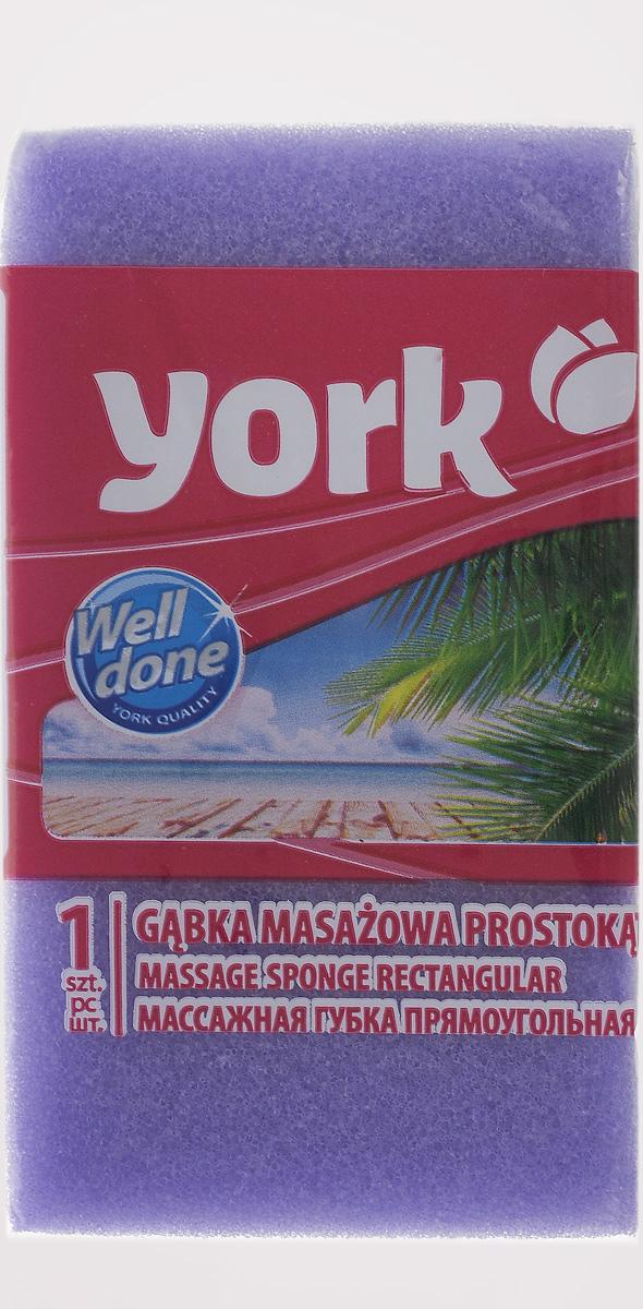 Губка для тела York, массажная, цвет: фиолетовый, белый, 13,5 х 7,5 х 4,2 см1104/011040_фиолетовый, белыйГубка для тела York изготовлена из мягкого экологически чистого полимера. Пористая структура губки создает воздушную пену даже при небольшом количестве геля для душа. Эффективно очищает и массирует кожу, улучшая кровообращение и повышая тонус.