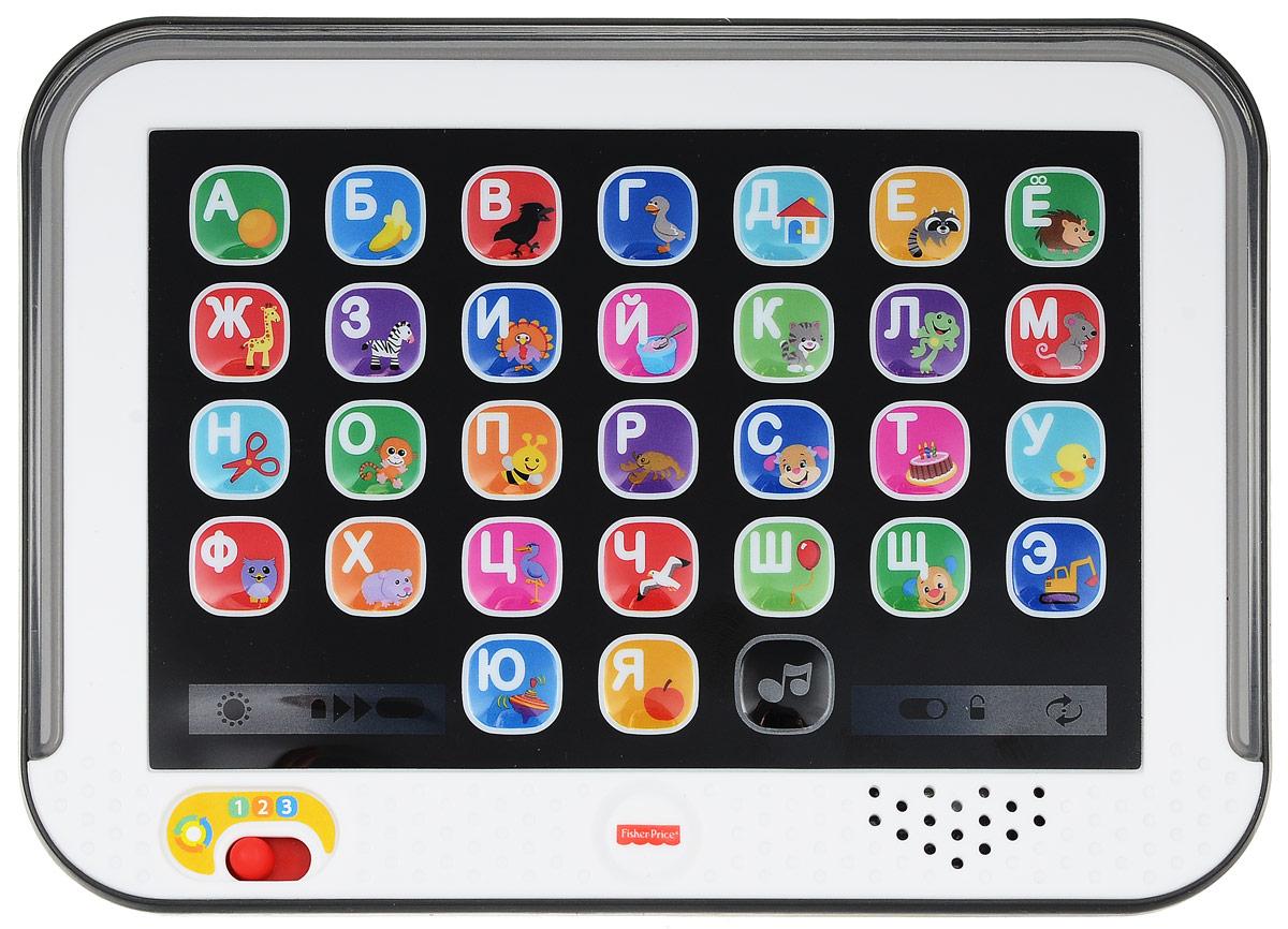 Fisher Price Развивающая игрушка Планшет Smart StagesDHY54Планшет Fisher Price Smart Stages - развивающая игрушка, которая поможет вашему малышу выучить алфавит, названия цветов и расширить свой словарный запас. Игрушка представляет собой реалистично выполненный планшет с функциональными кнопками, каждая из которых отвечает за букву, слово или звук. Для удобства и систематизации обучения в планшете предусмотрено 3 уровня, соответствующих определенному этапу развития ребенка. Первый уровень - нажимая на кнопки, ребенок услышит названия животных и предметов, а при повторном нажатии - звуки, которые они издают. Второй уровень - на данном этапе малыш после нажатия на кнопку слышит букву, а при повторном нажатии - название предмета или животного, нарисованного на кнопке. Помимо этого, здесь предусмотрена проверочная игра, во время которой планшет просит найти на экране и нажать на определенную букву. Третий уровень - на этом уровне детям предлагается повторять за планшетом звуки. Это позволяет улучшить артикуляцию и развивает...