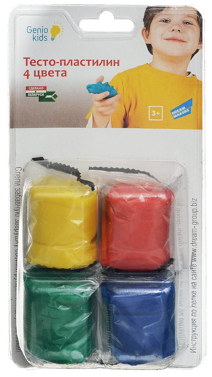 Genio Kids Тесто-пластилин для лепки 4 цвета TA1055B